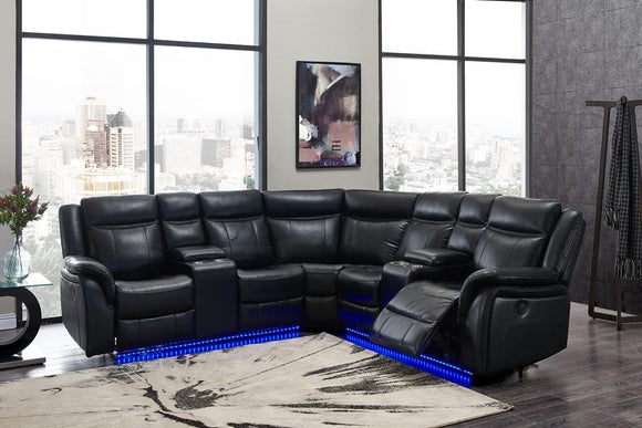 Global Furniture UM02 Sectional in Blanche Black image