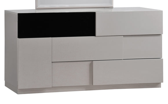 Global Furniture Bianca 6 Drawer Dresser in Gray/Black image