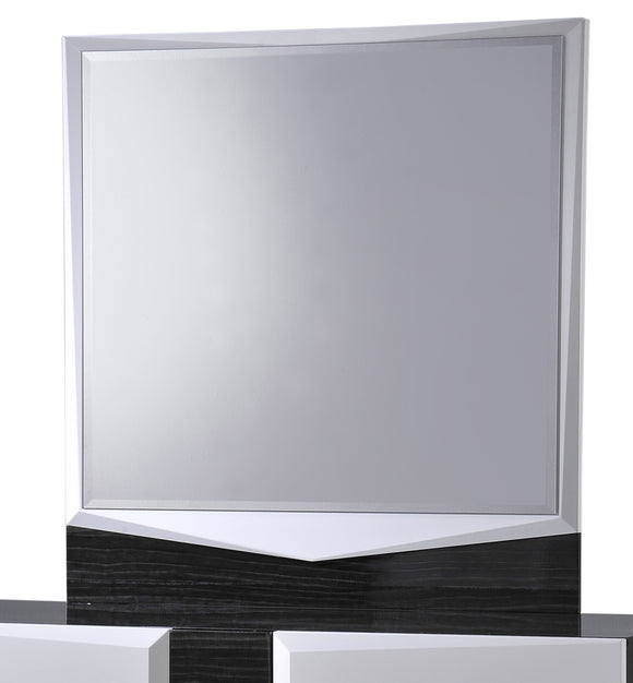 Global Furniture Hudson Mirror in Zebra Grey/White image