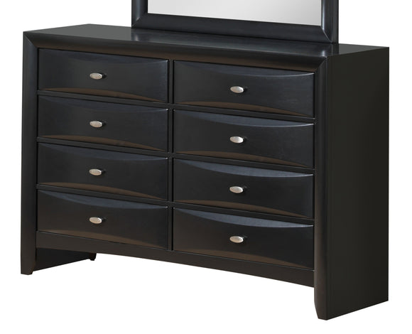 Global Furniture Linda 8 Drawer Dresser in Black image