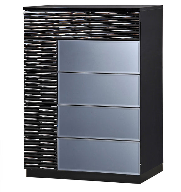 Global Furniture Manhattan 5 Drawer Chest in Black image