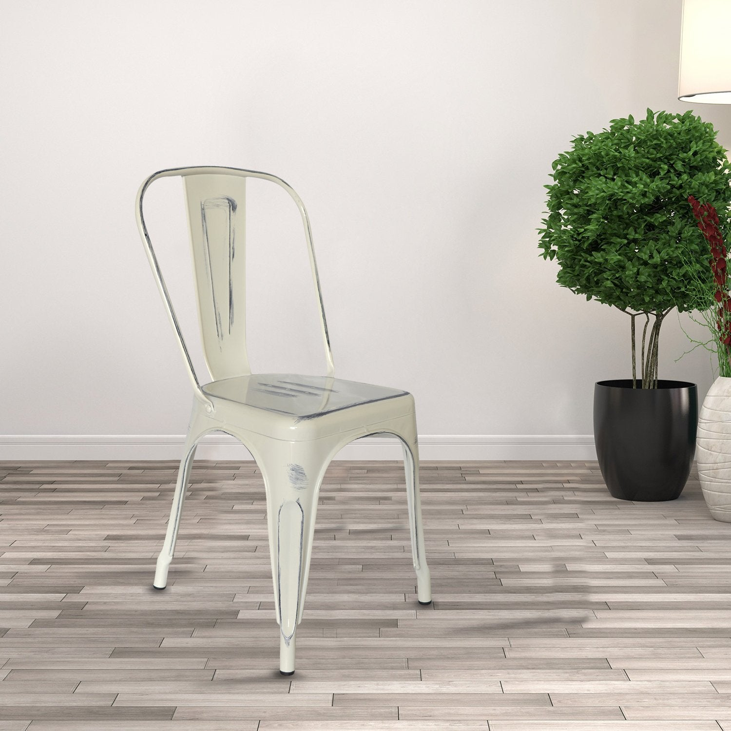 Café Au Lait Iron Chair from Teaktale Home Decors