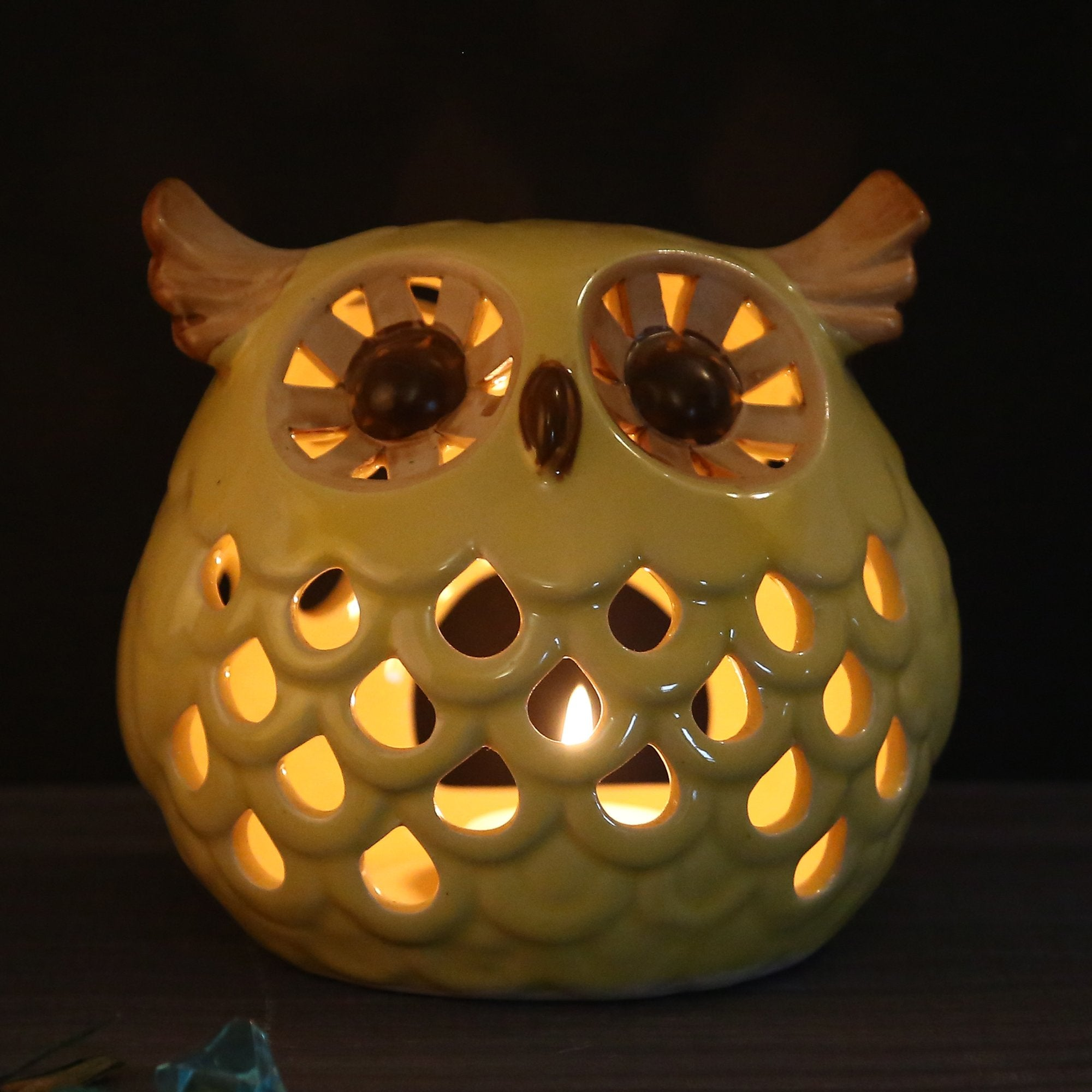 Owl Sculpted Candle Stand