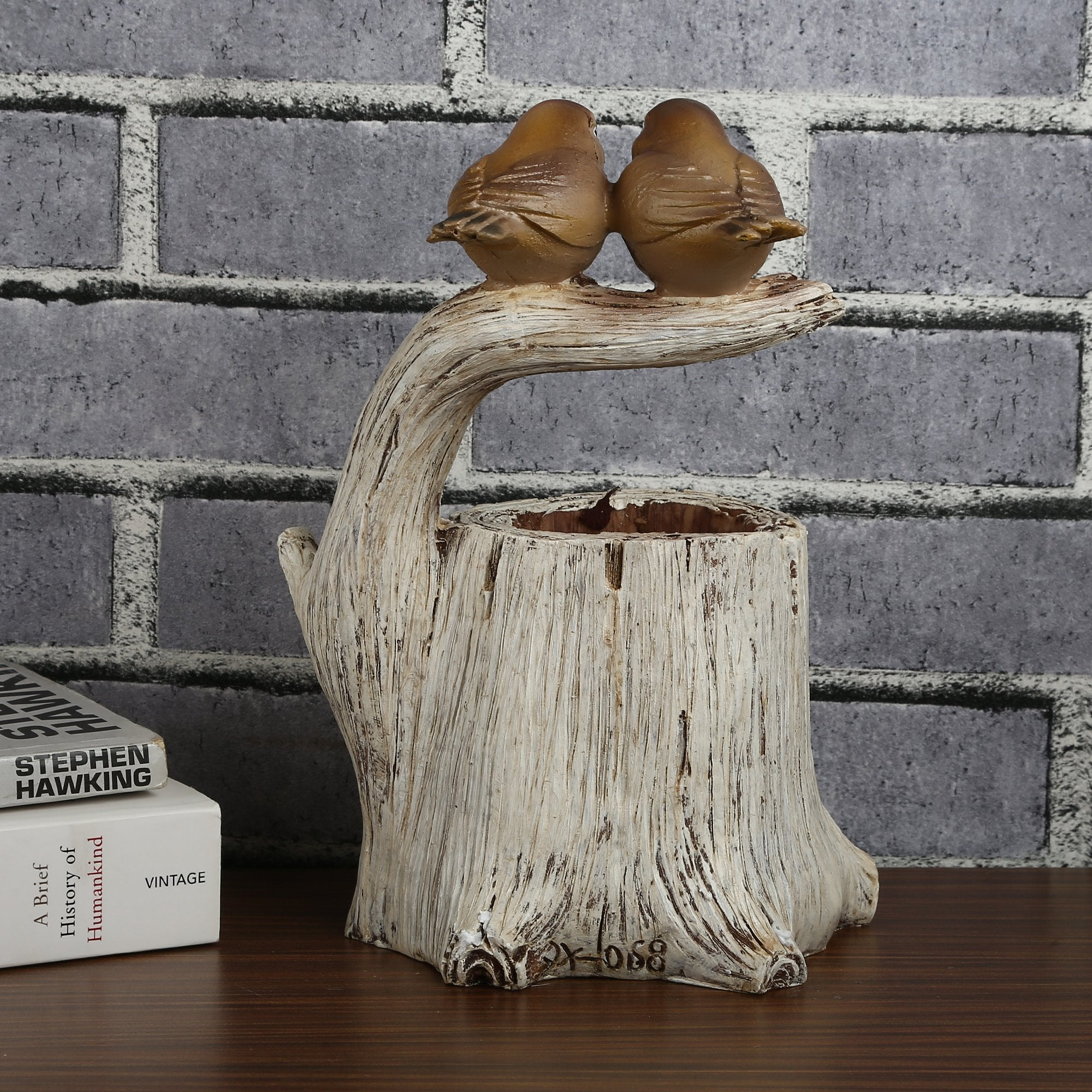 Birds Nest Pen Stand - Teak Tale
