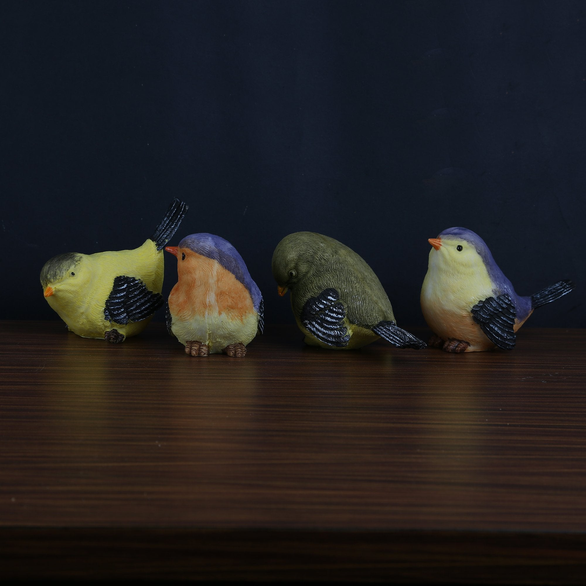 Set Of 4 Small Birds