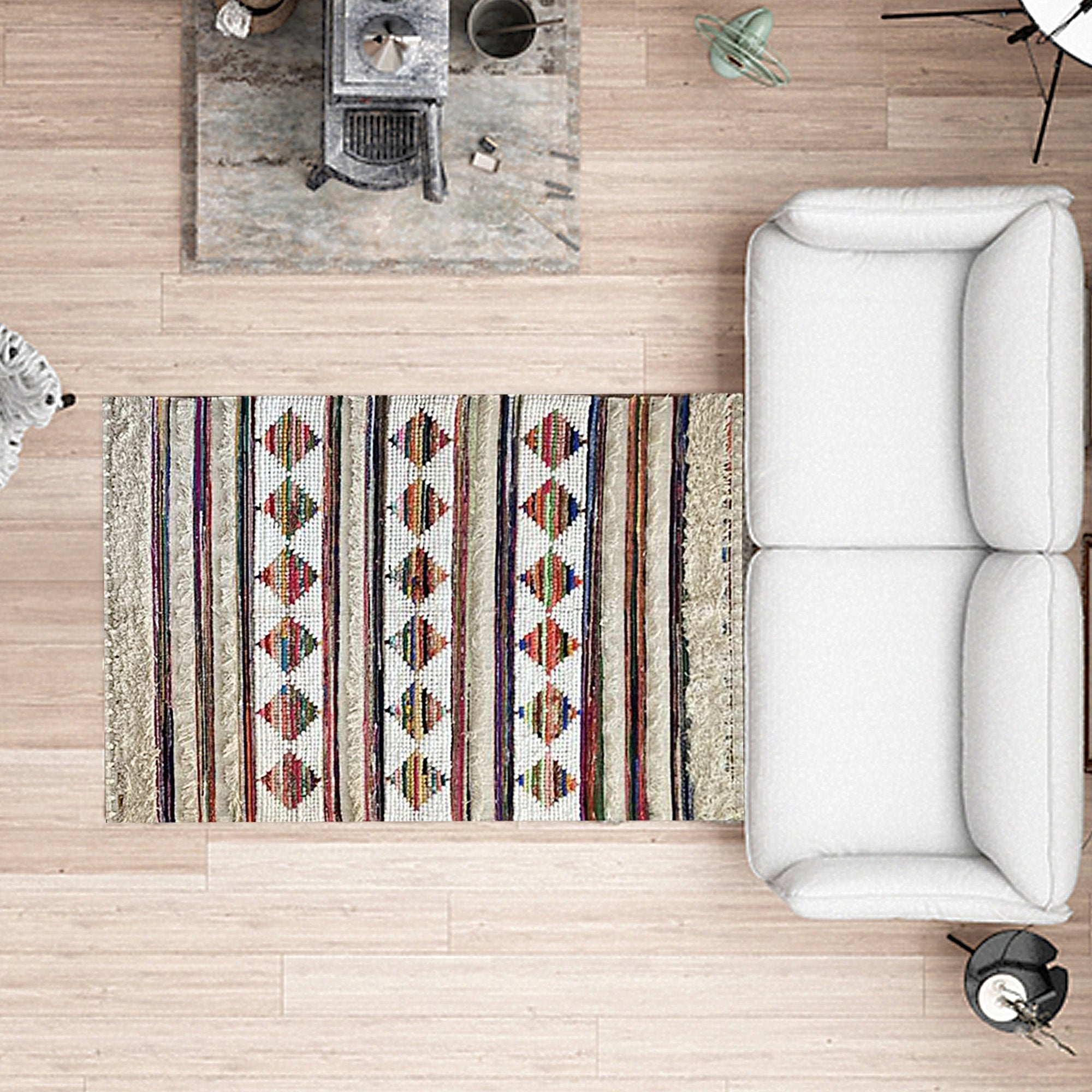 BOHO Delilah Hand-Woven Multicolored Carpet - Teak Tale