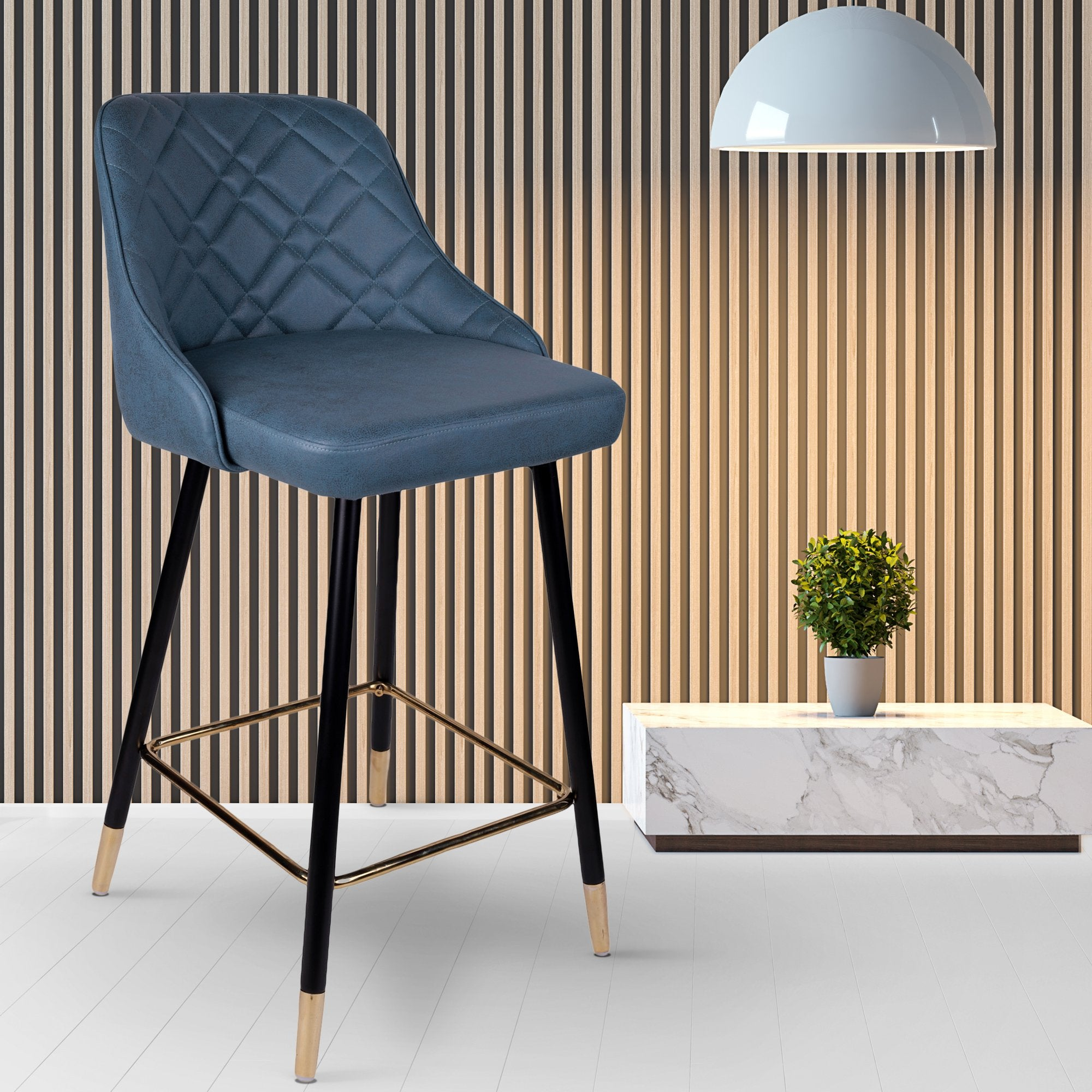 Bar Chair in Grey Color - Teak Tale