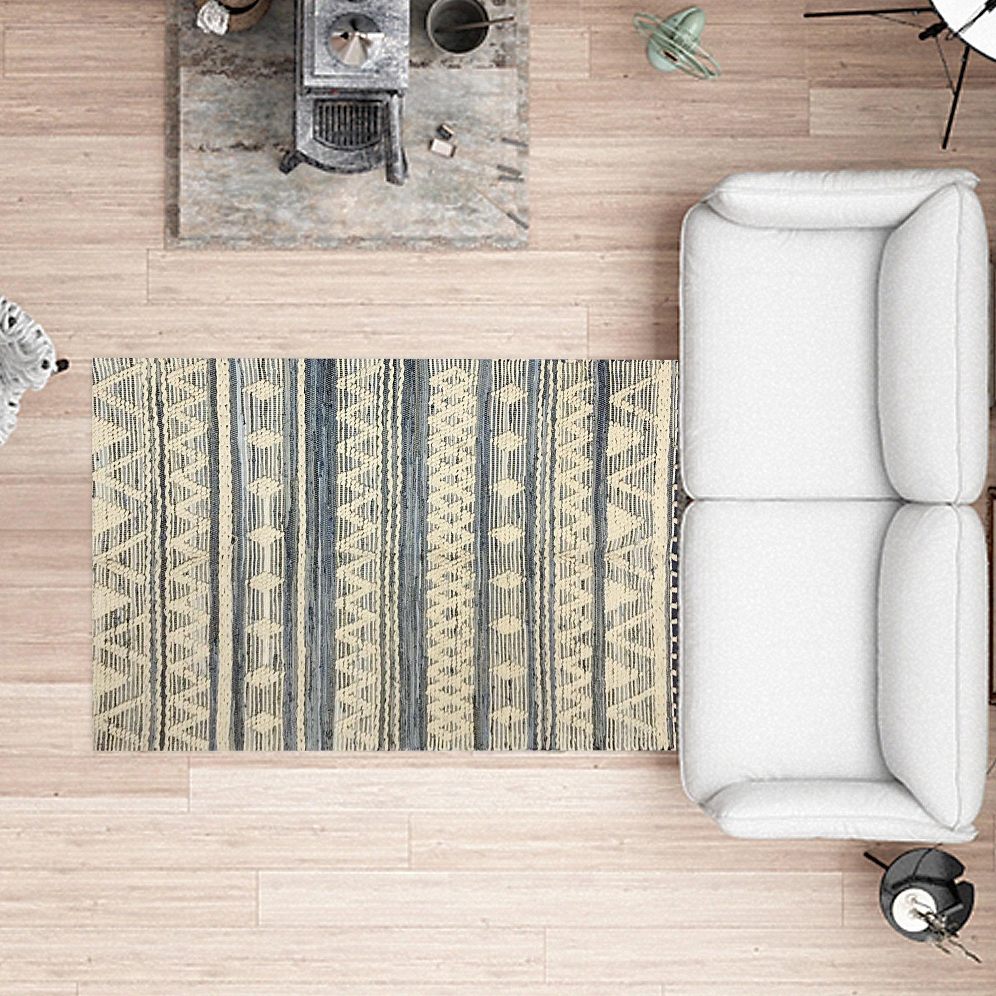 Beige Color Abstract Pattern Carpet