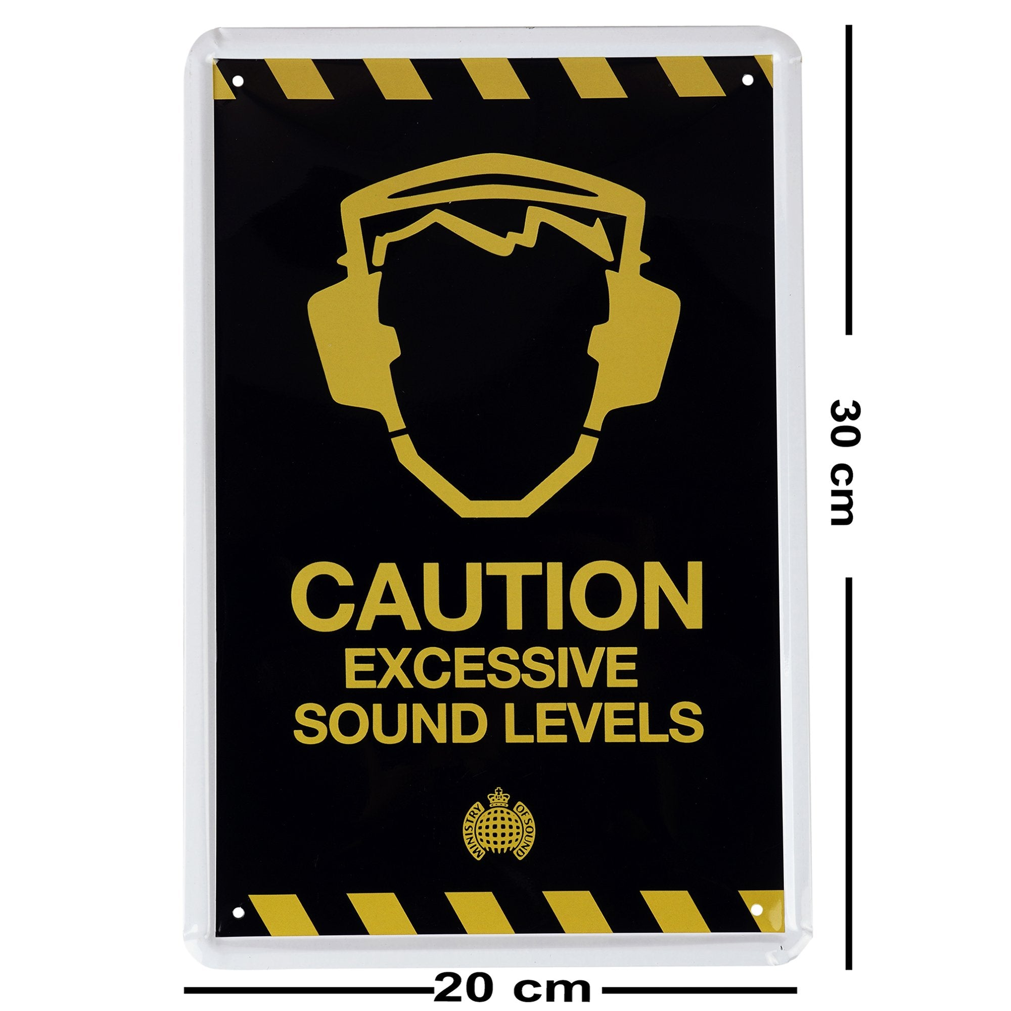 Caution Excessive Sound Levels Wall Plaque