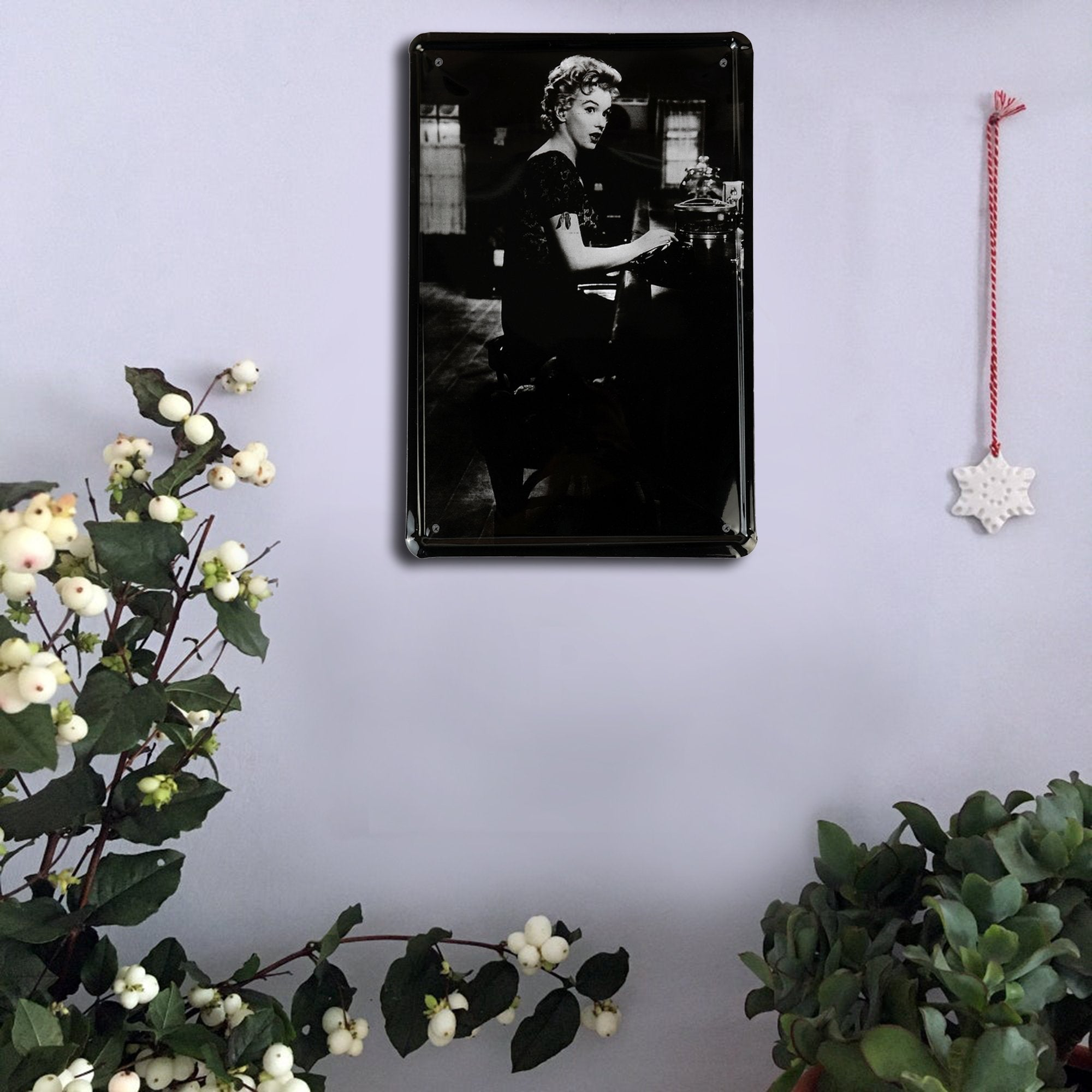 Old Movie Actress Wall Plaque