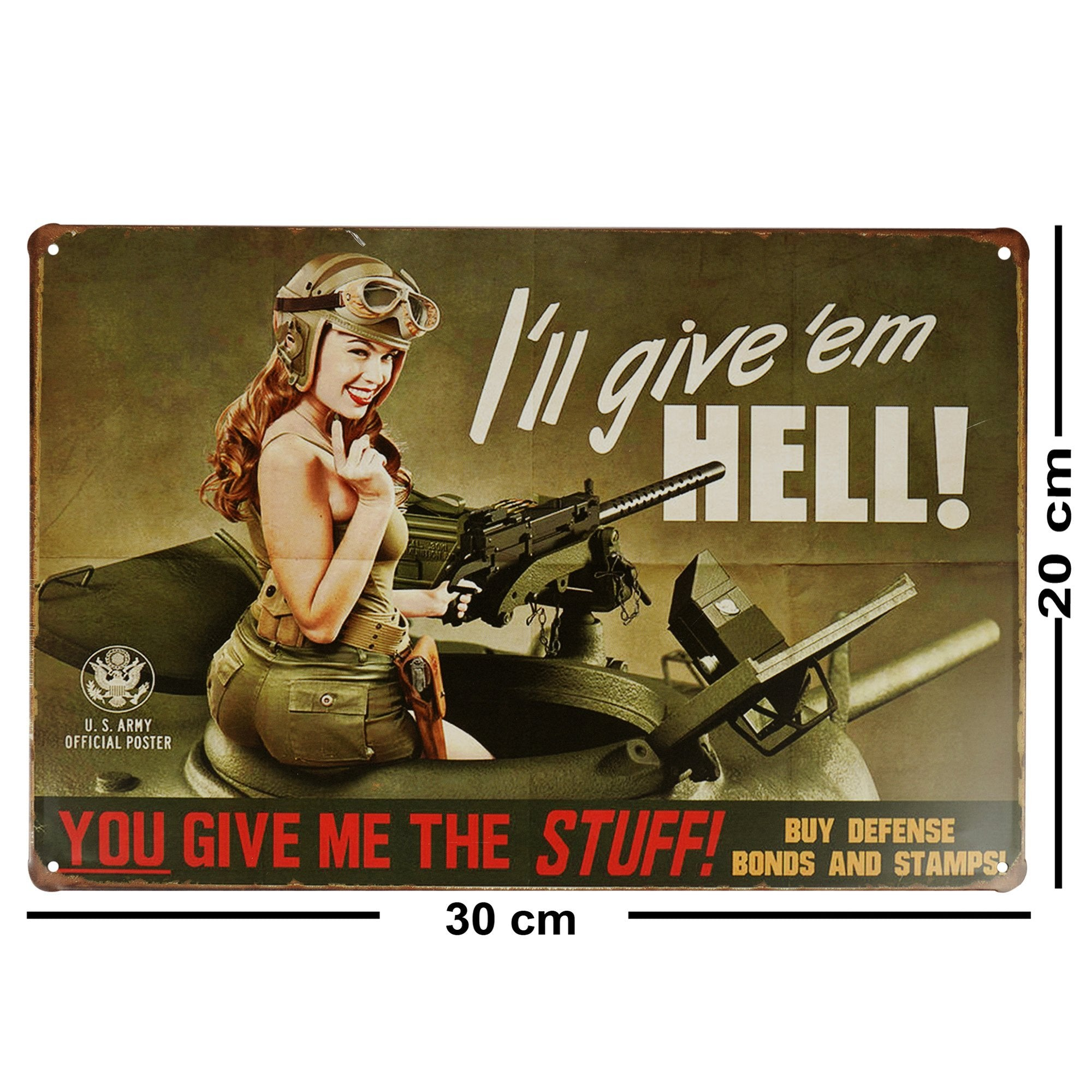 I'll Give 'em Hell Wall Plaque
