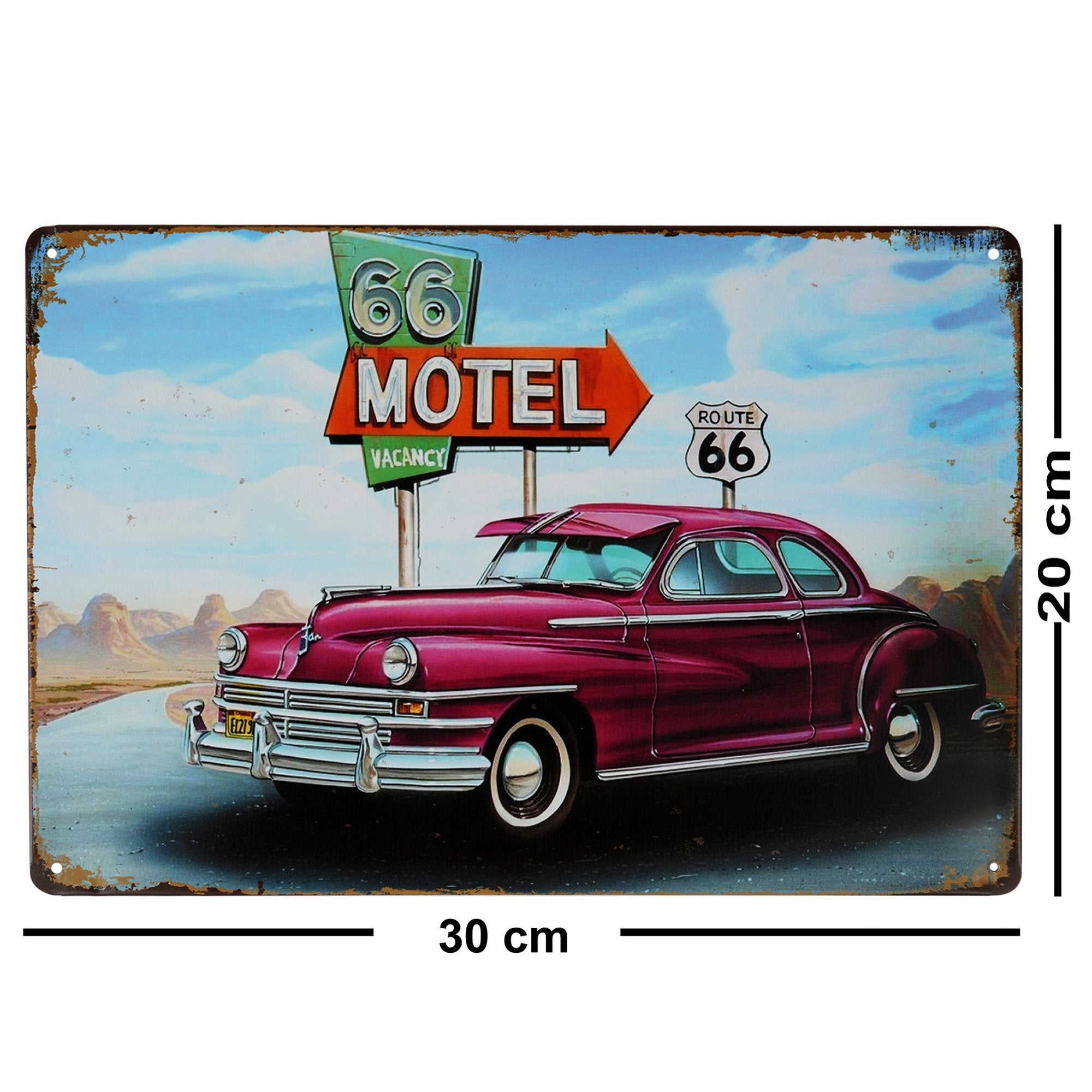 Route 66 Motel Wall Plaque