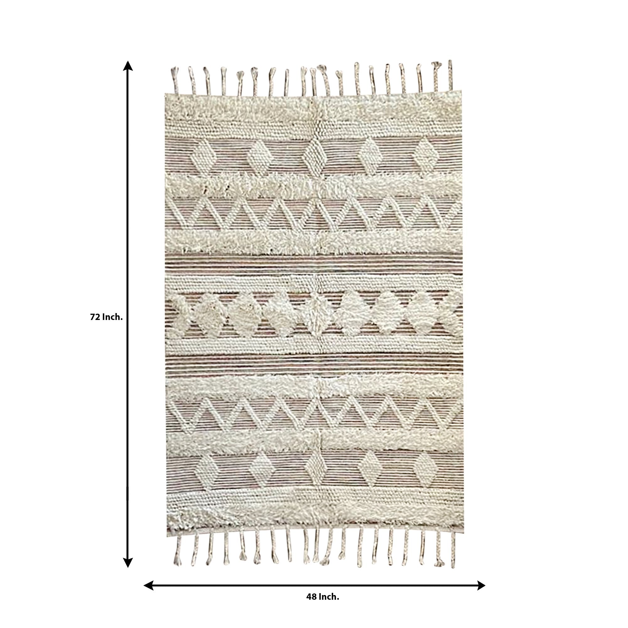 Beige Color Traditional Pattern Carpet - Teak Tale