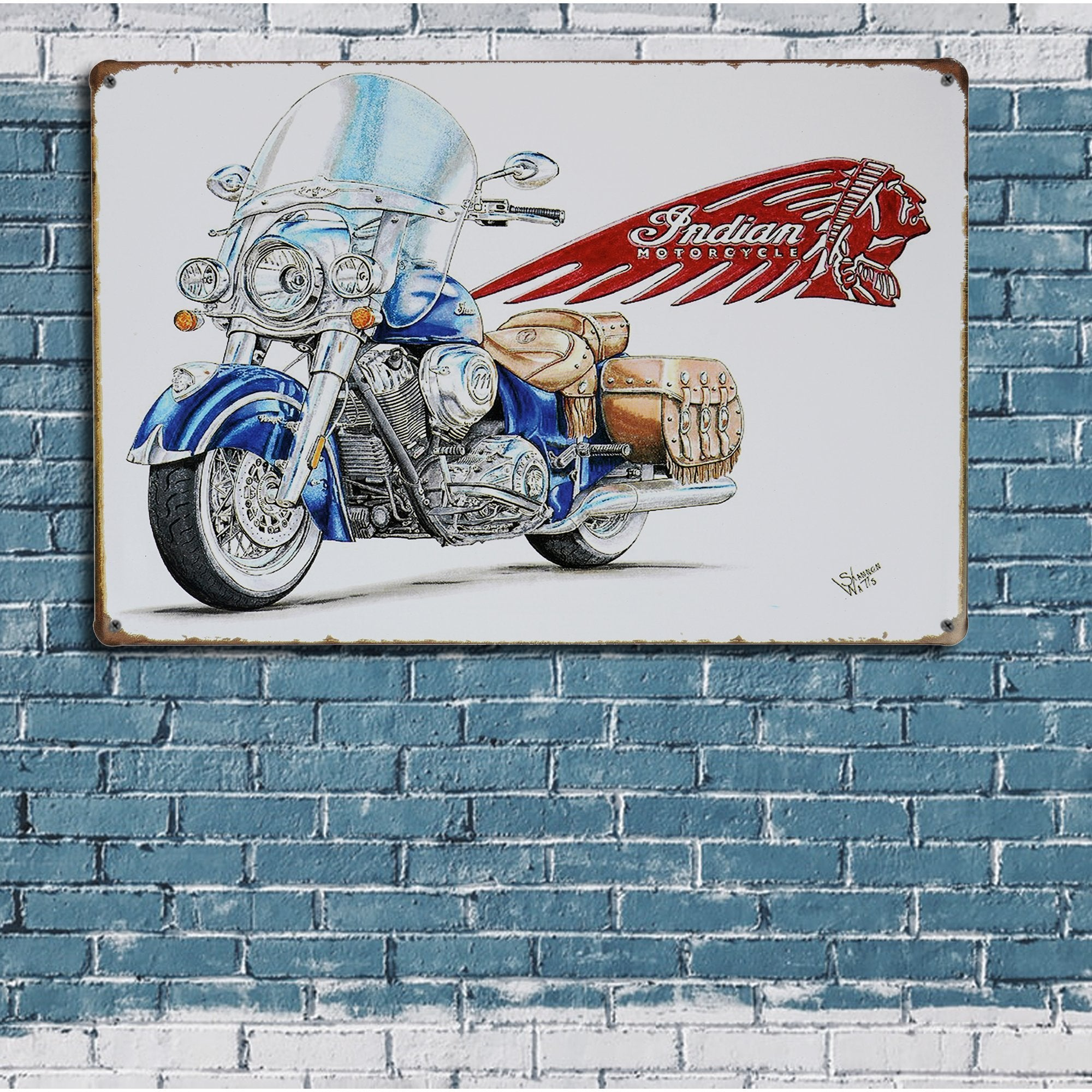 Indian Motorcycle Wall Plaque