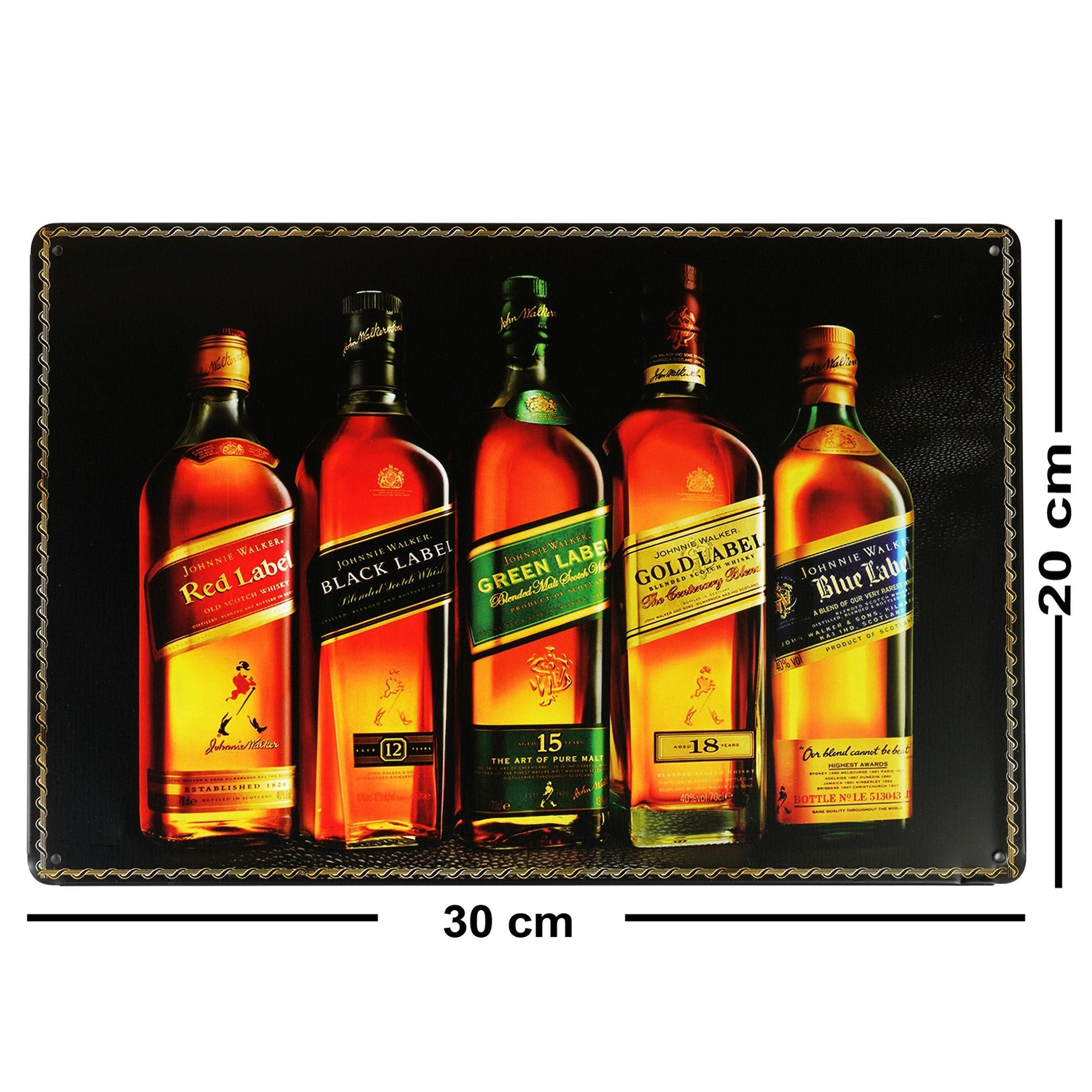 Johnnie Walker Wall Plaque