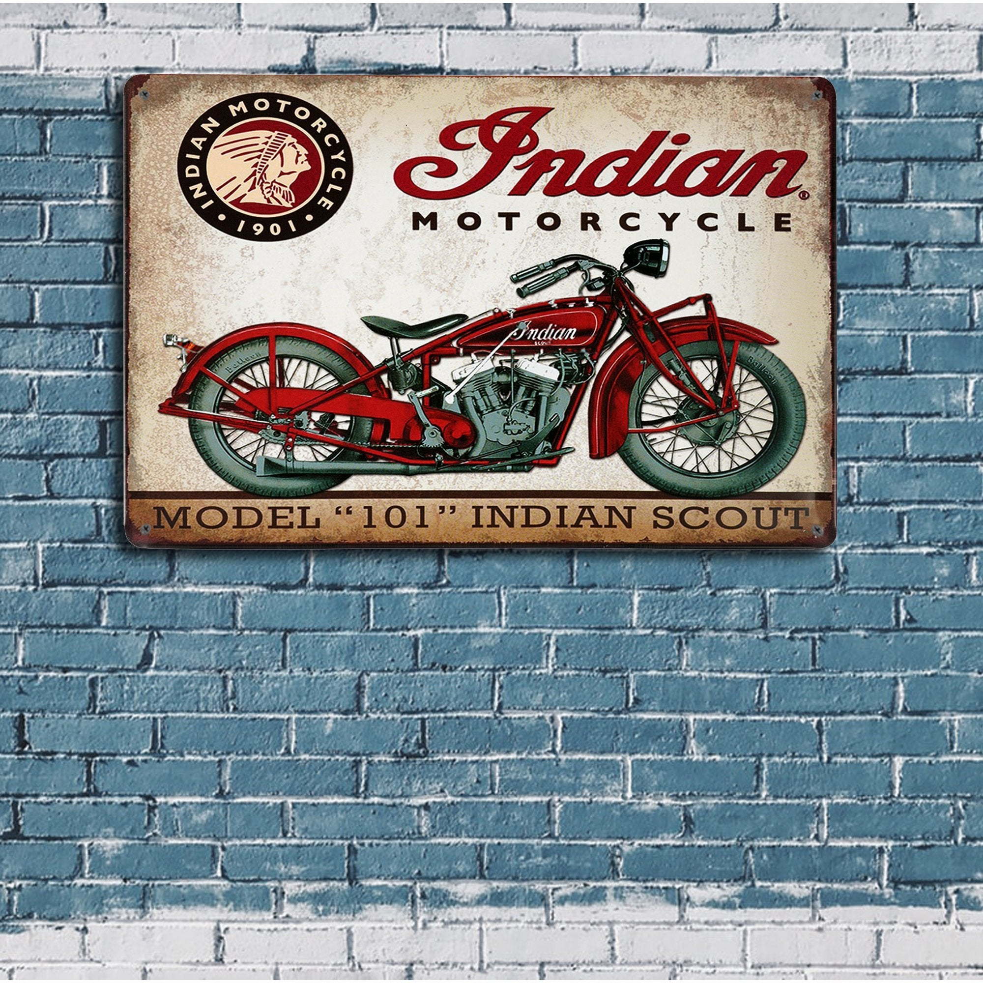Indian Motorcycle 101 Wall Plaque