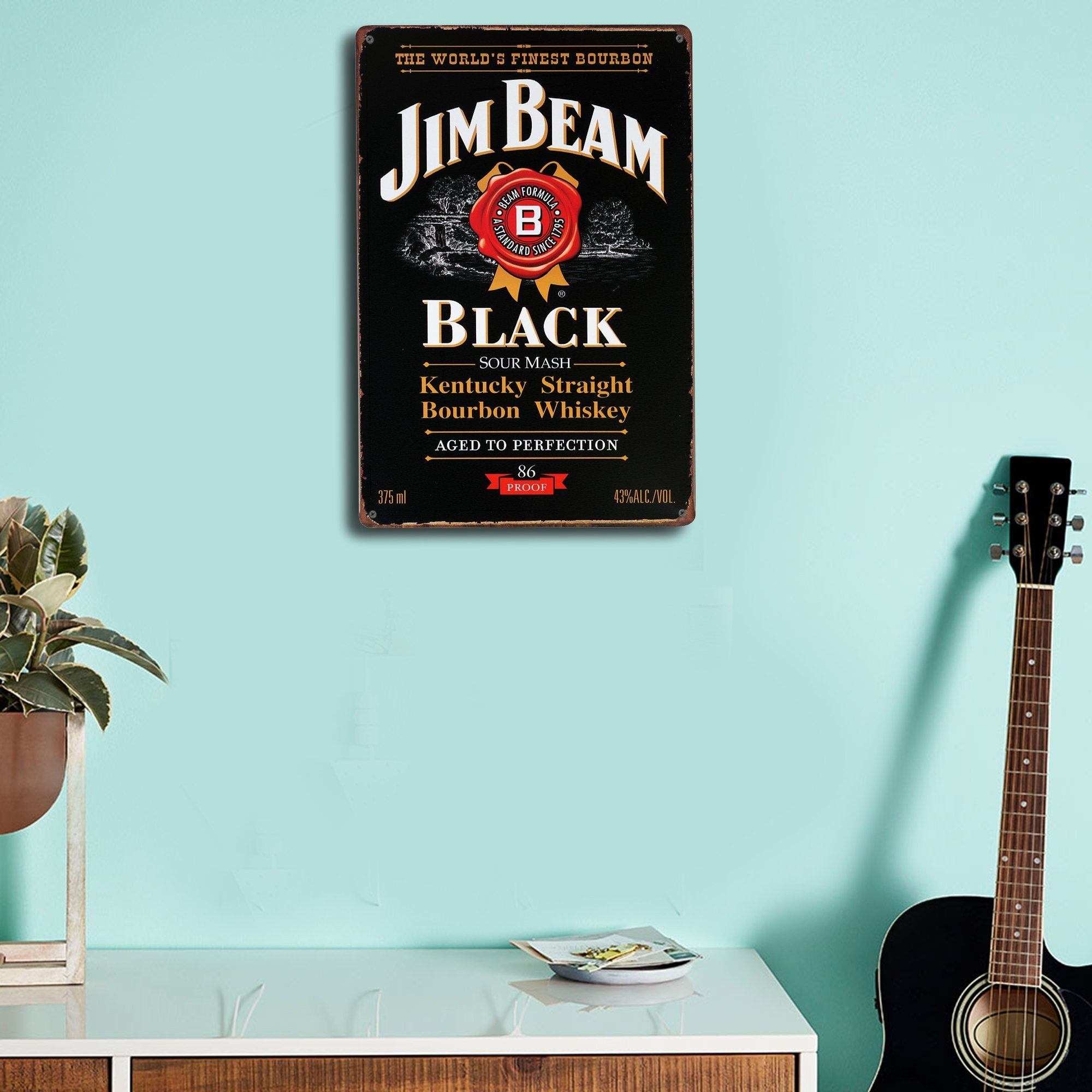 Jim Beam Black Wall Plaque