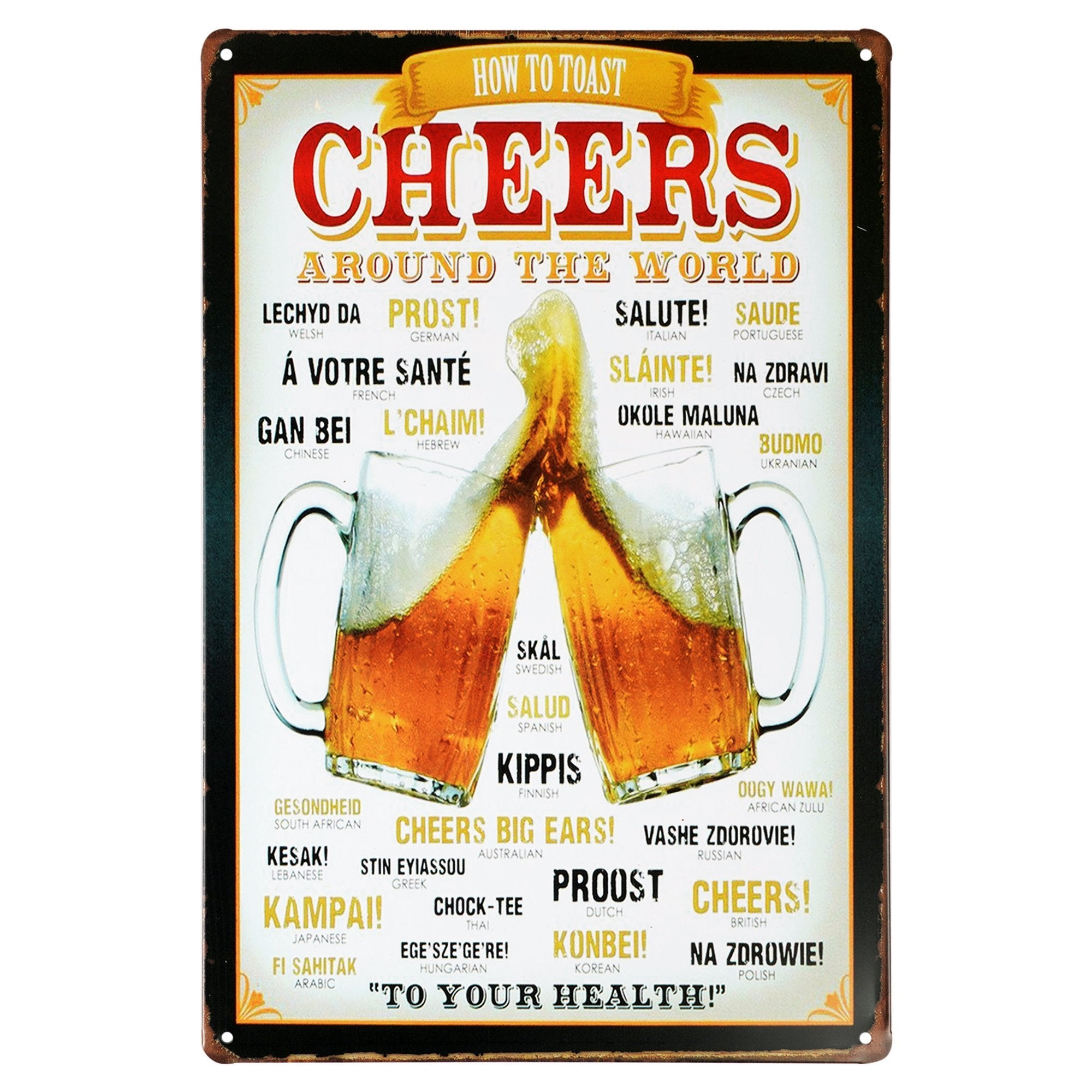 Cheers Wall Plaque