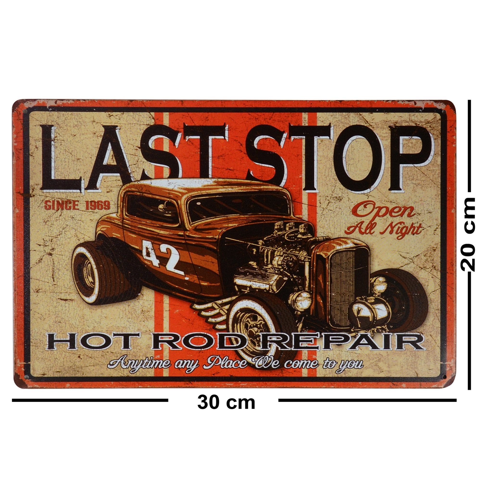 Hot Rod Repair Wall Plaque