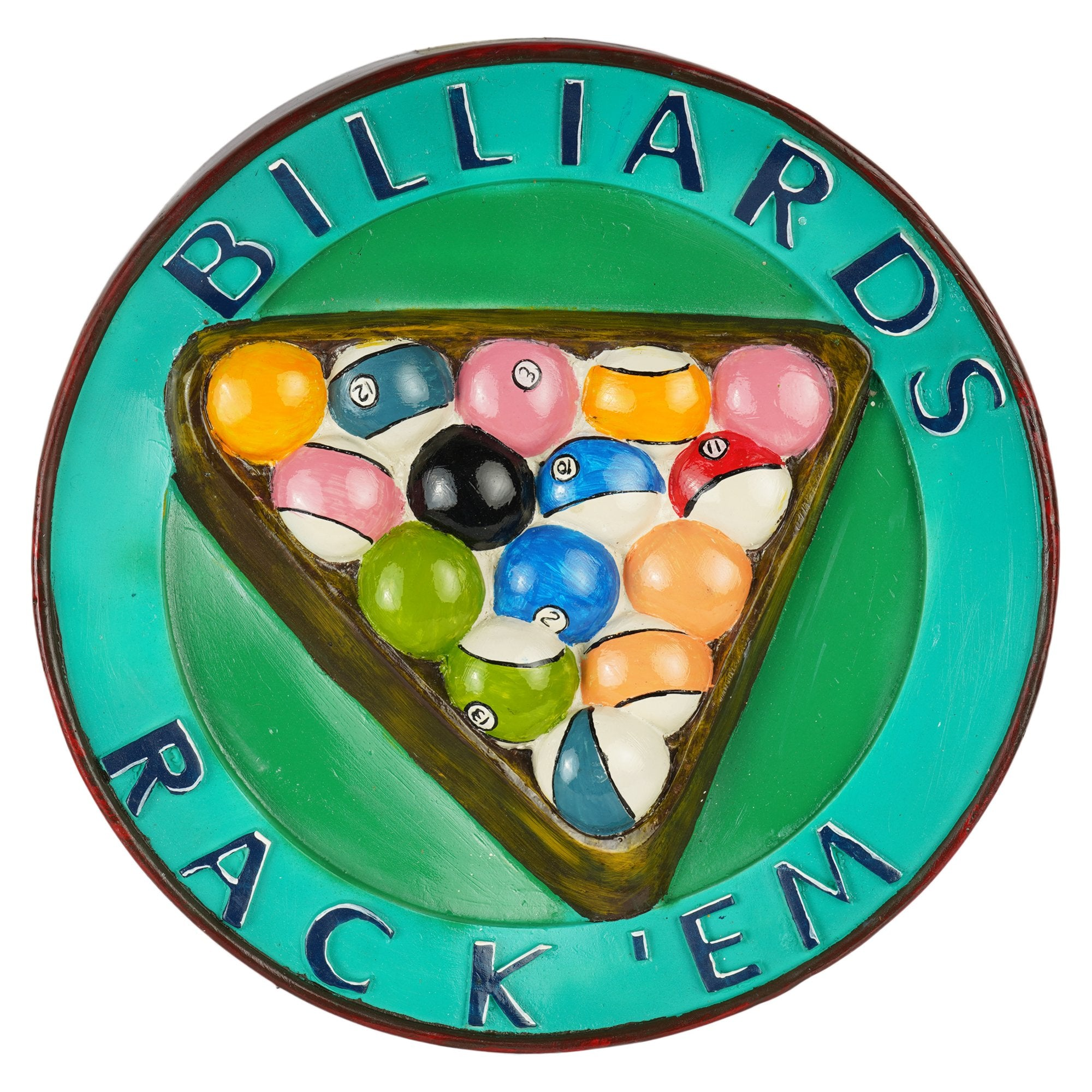 Billiards Wall Plaque - Teak Tale