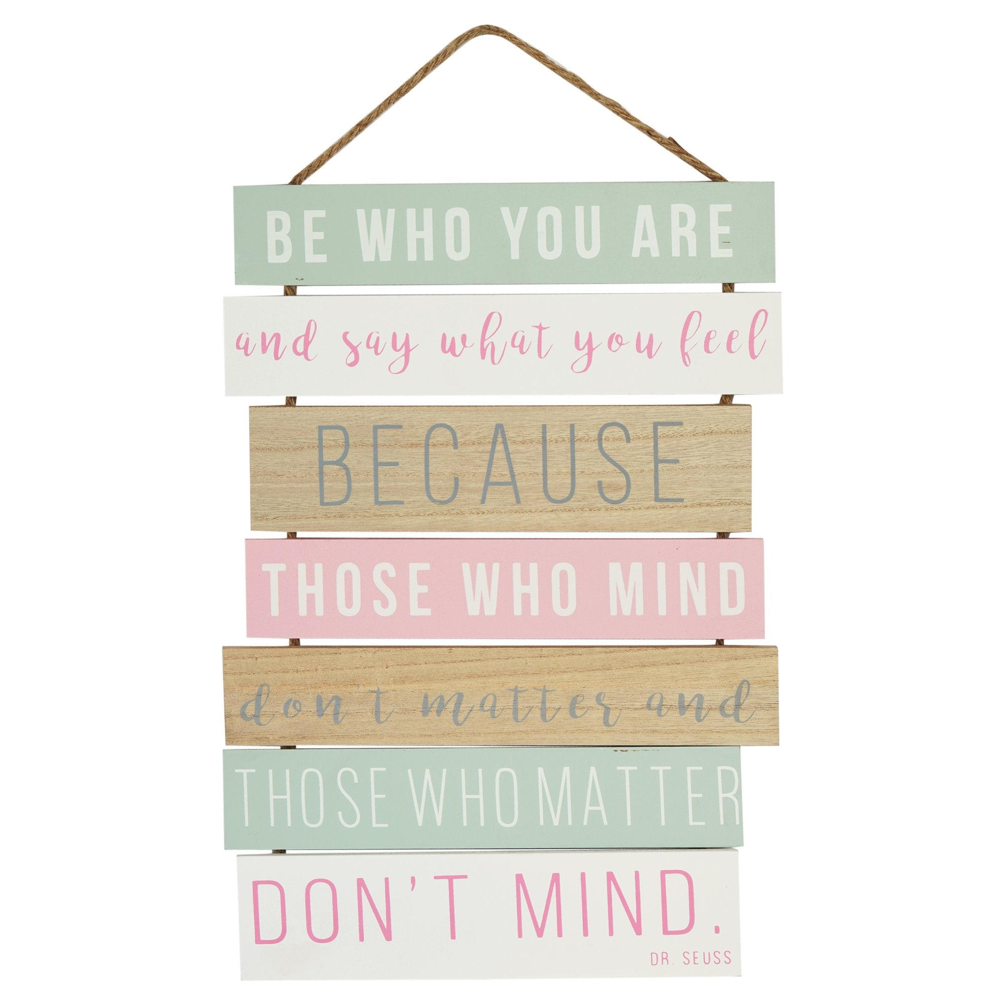 Be Who You Are Wall Plaque - Teak Tale