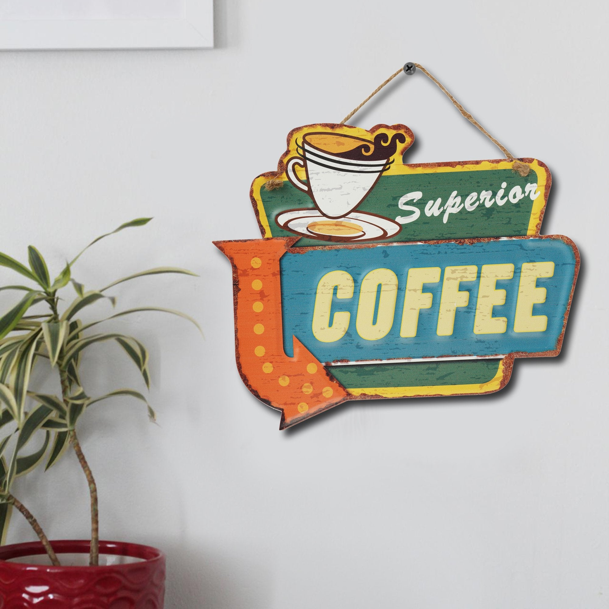 Superior Coffee Wall Plaque - Teak Tale