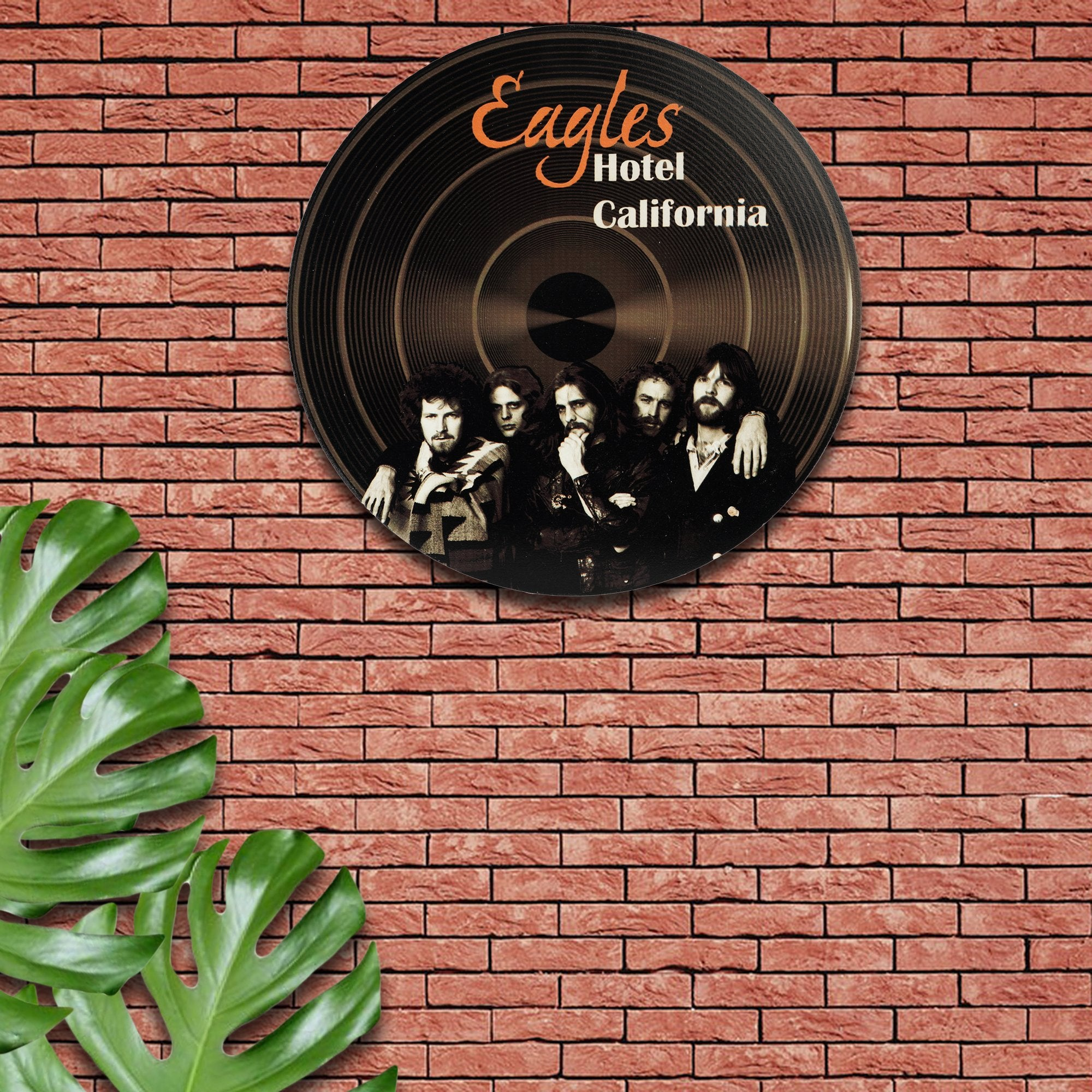 Eagles Wall Disc - Teak Tale