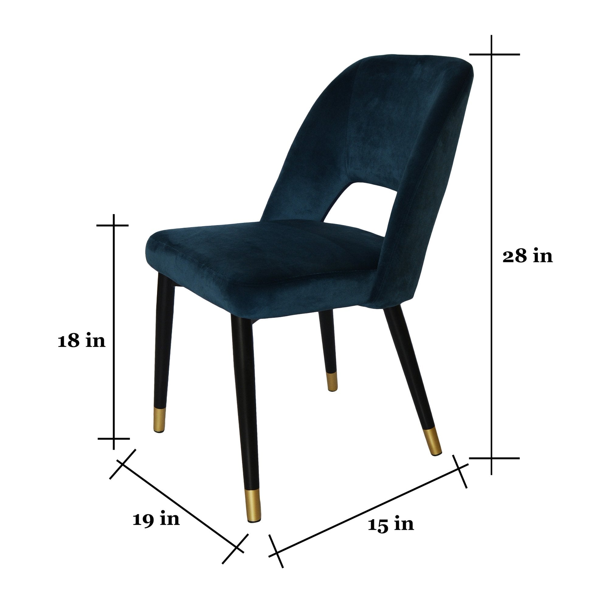 Plush Midnight Blue Chair for the Luxurious Youa from Teaktale Home Decors