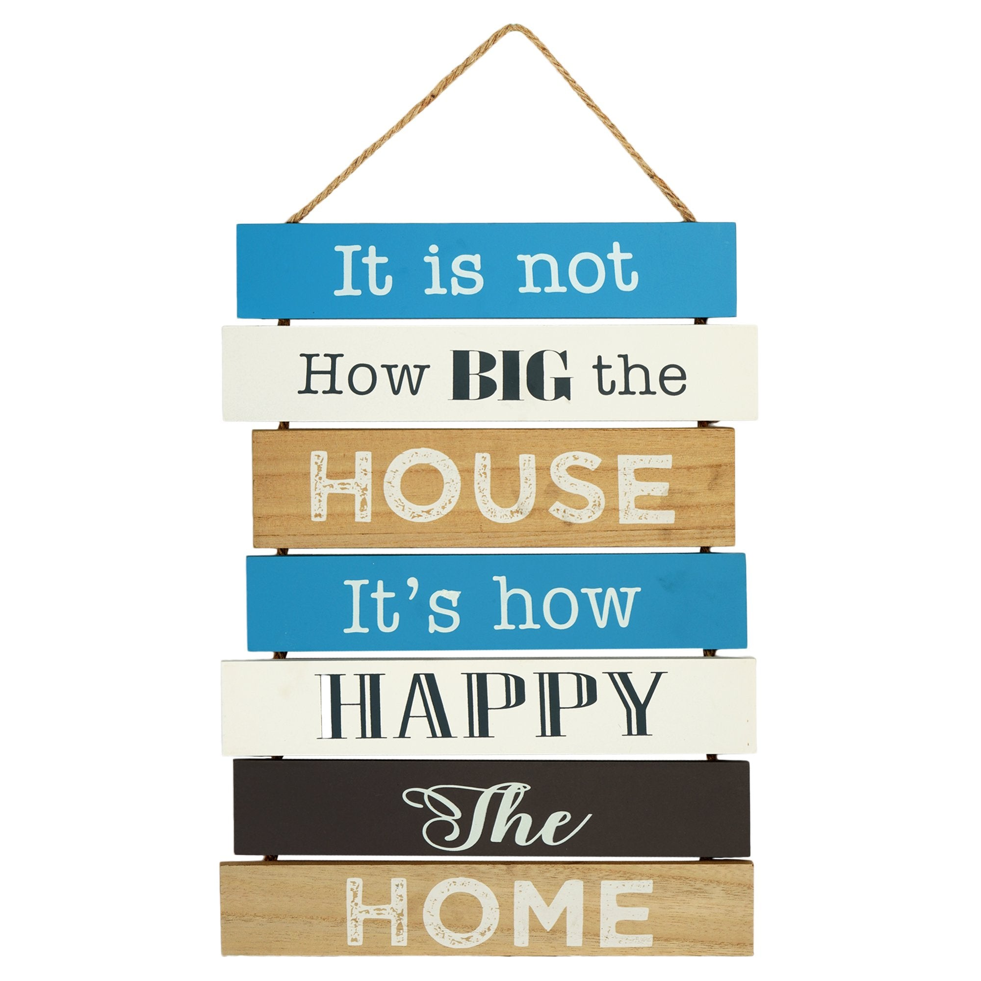 Happy Home Wall Plaque - Teak Tale