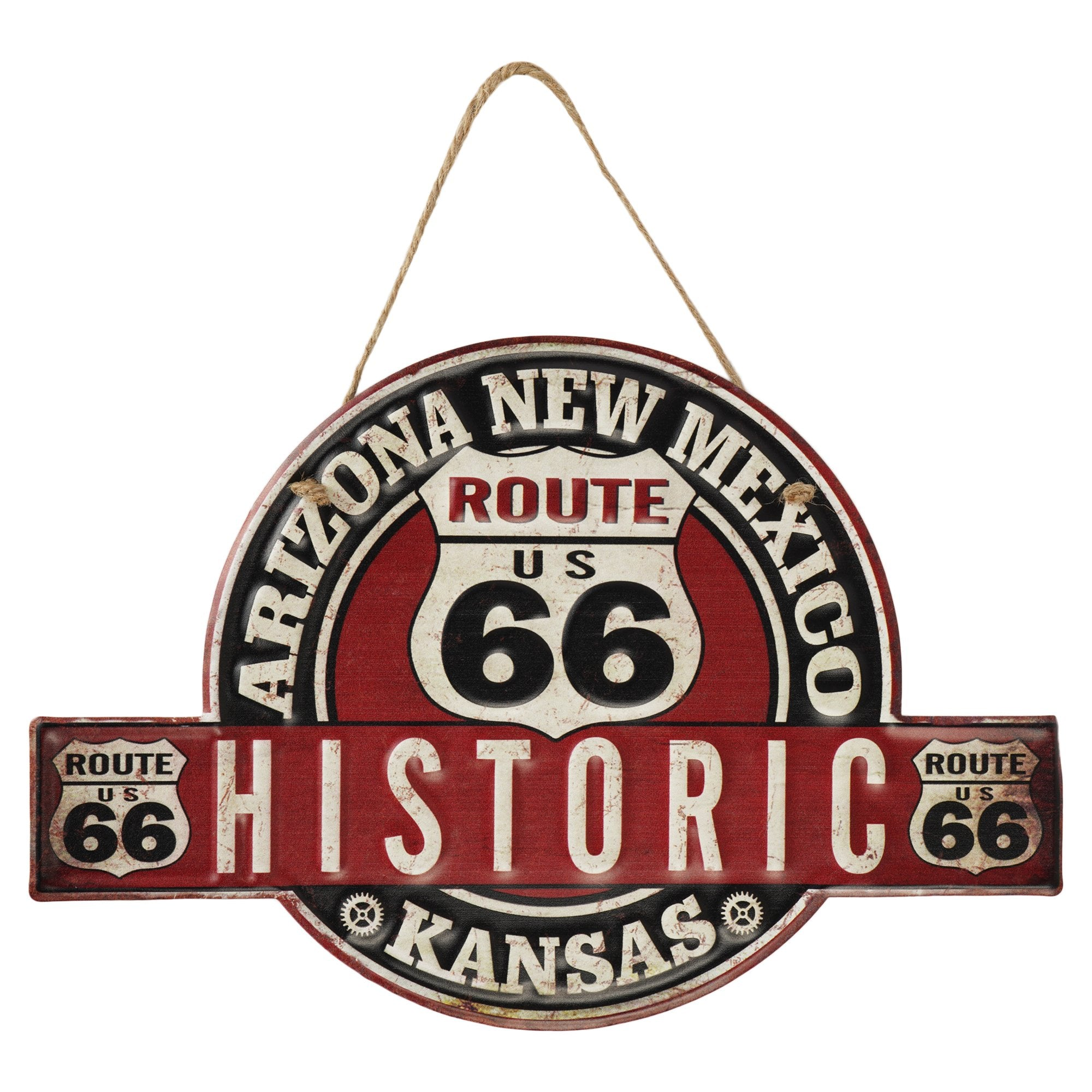 Historic Route 66 Wall Plaque