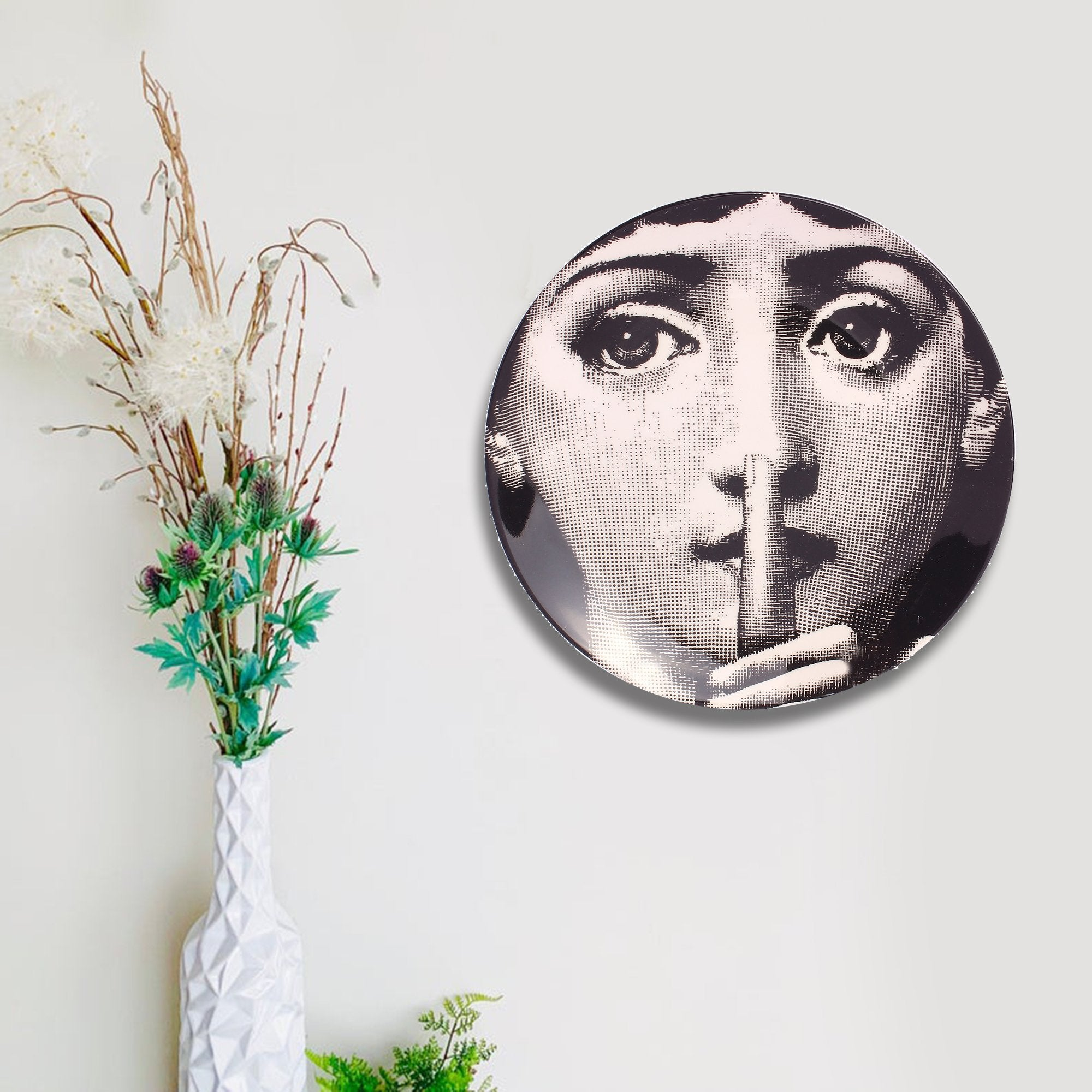 Cinematic Wall Décor Plate - Teak Tale
