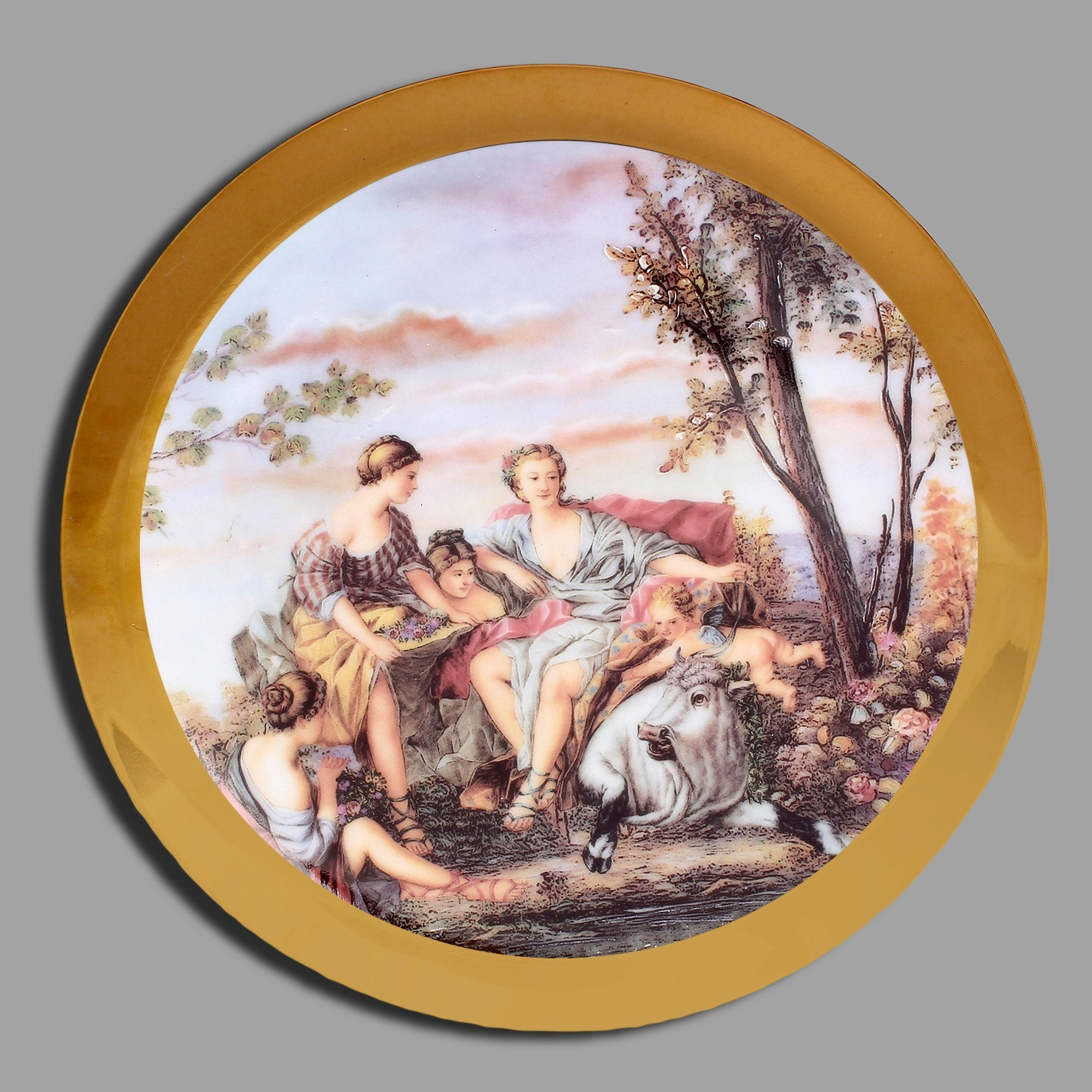 Golden Plate With 2 Guys & A Lady