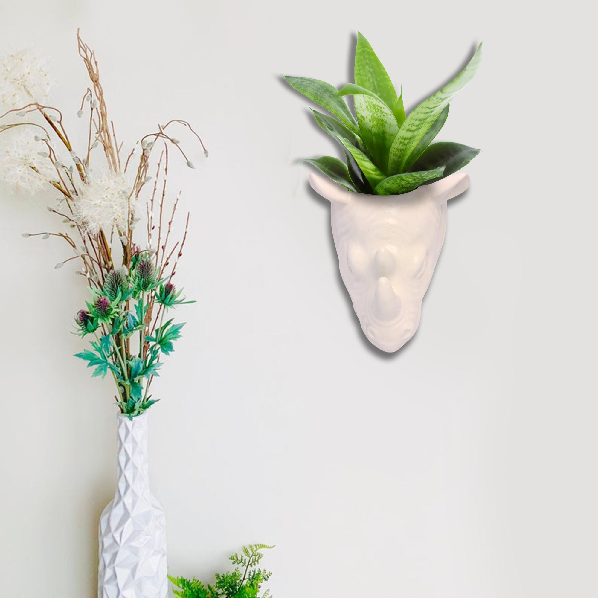 Hanging Rhino Planter