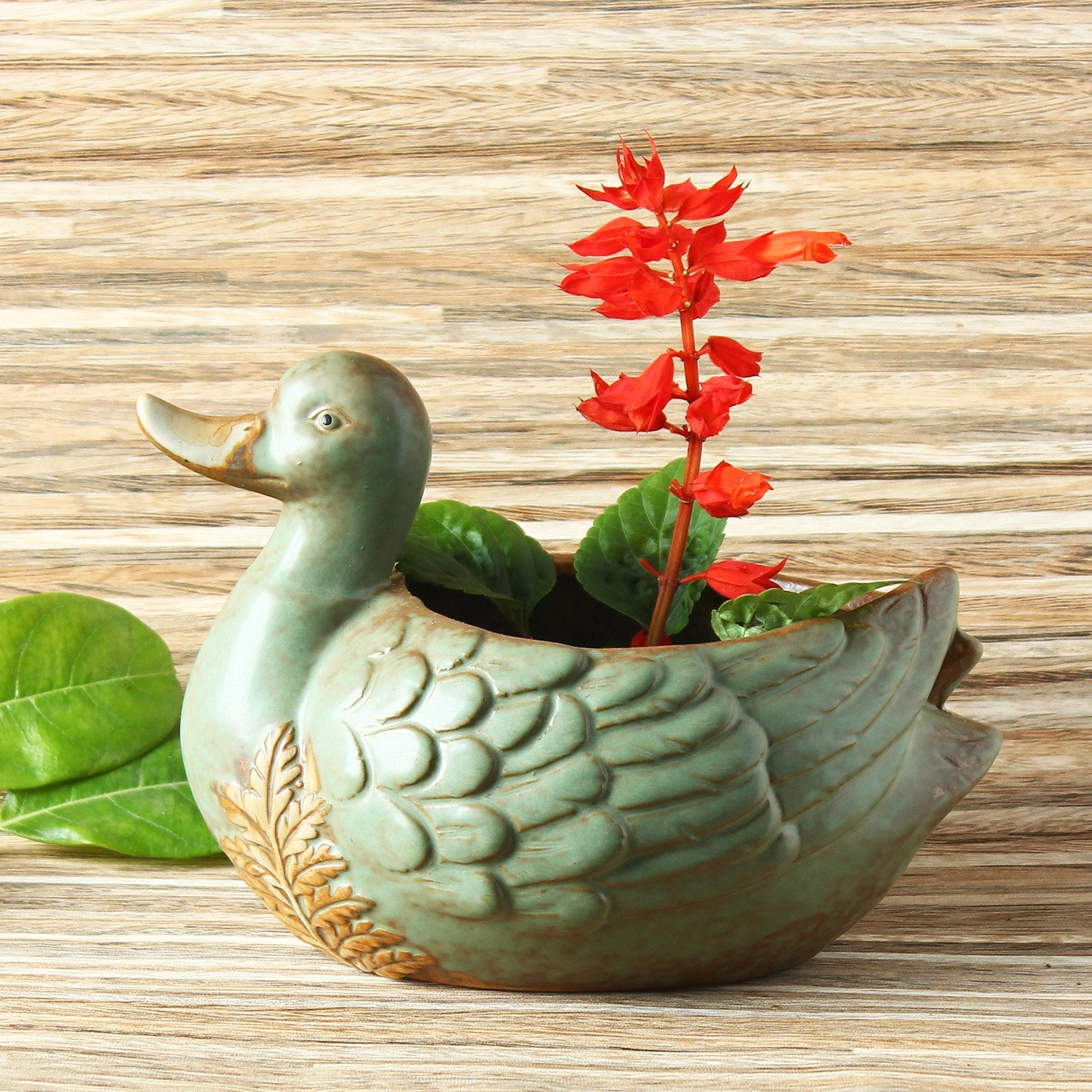 Creative Pot For Garden Duck