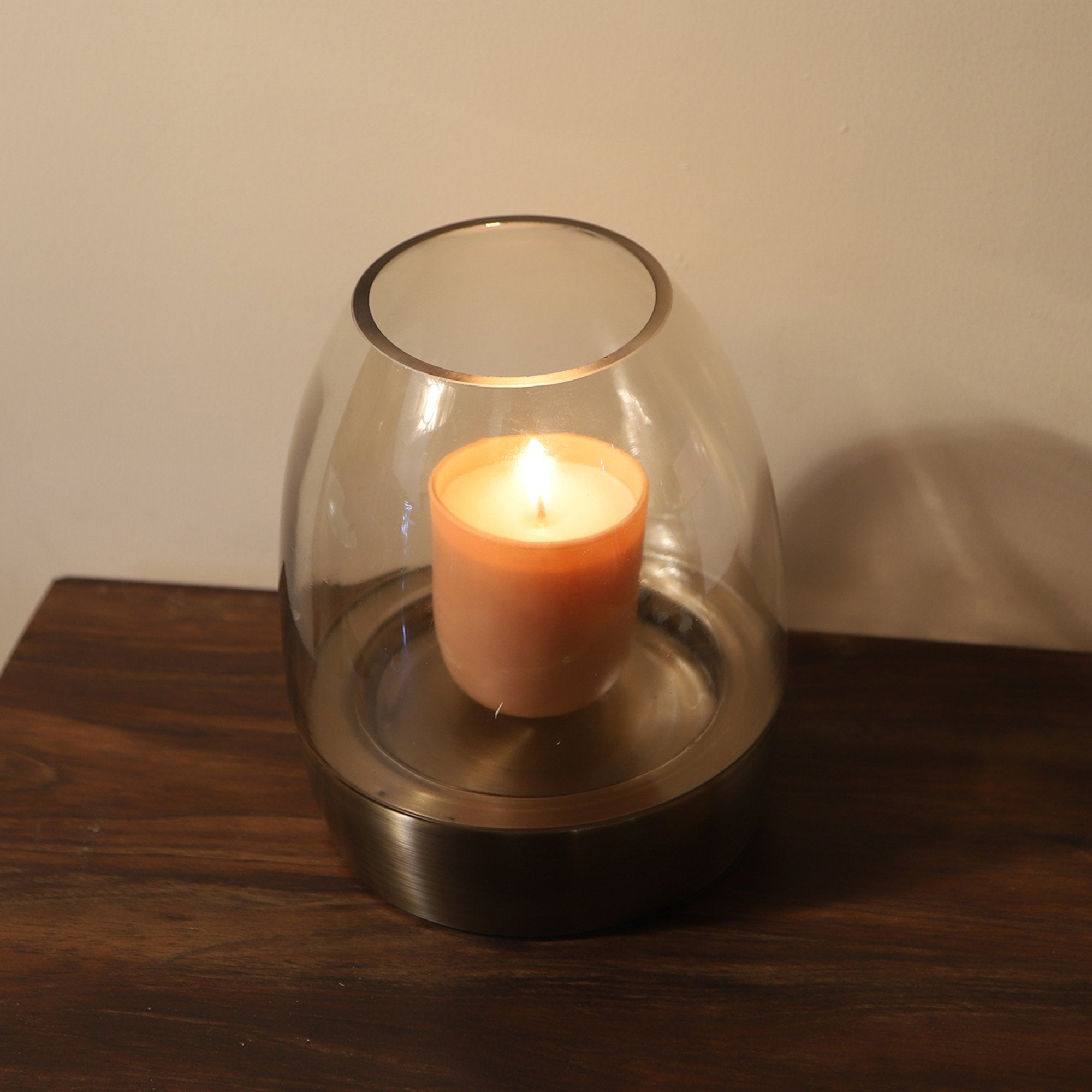 Artisan Glass Candle Stand