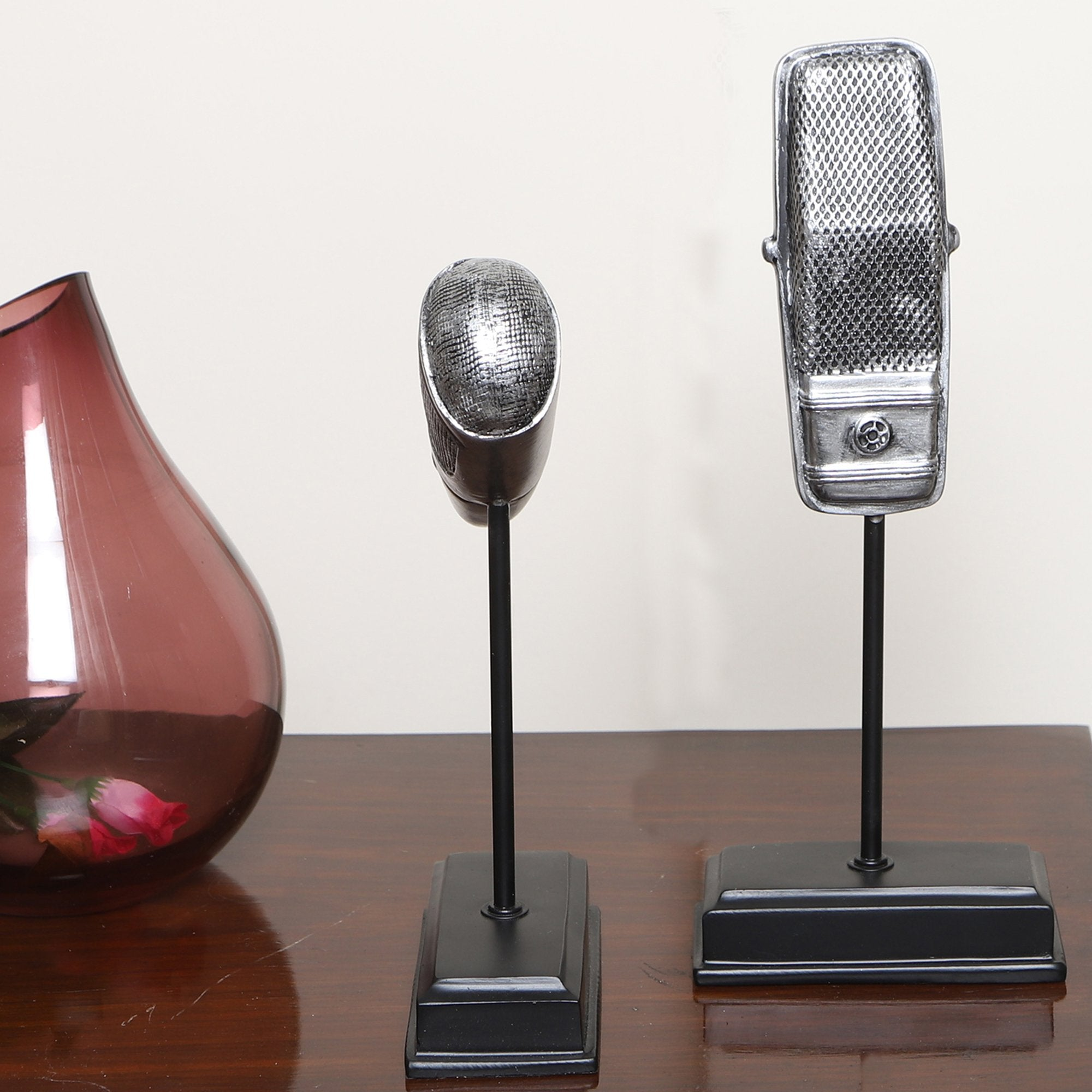 Vintage Microphone Sculpture