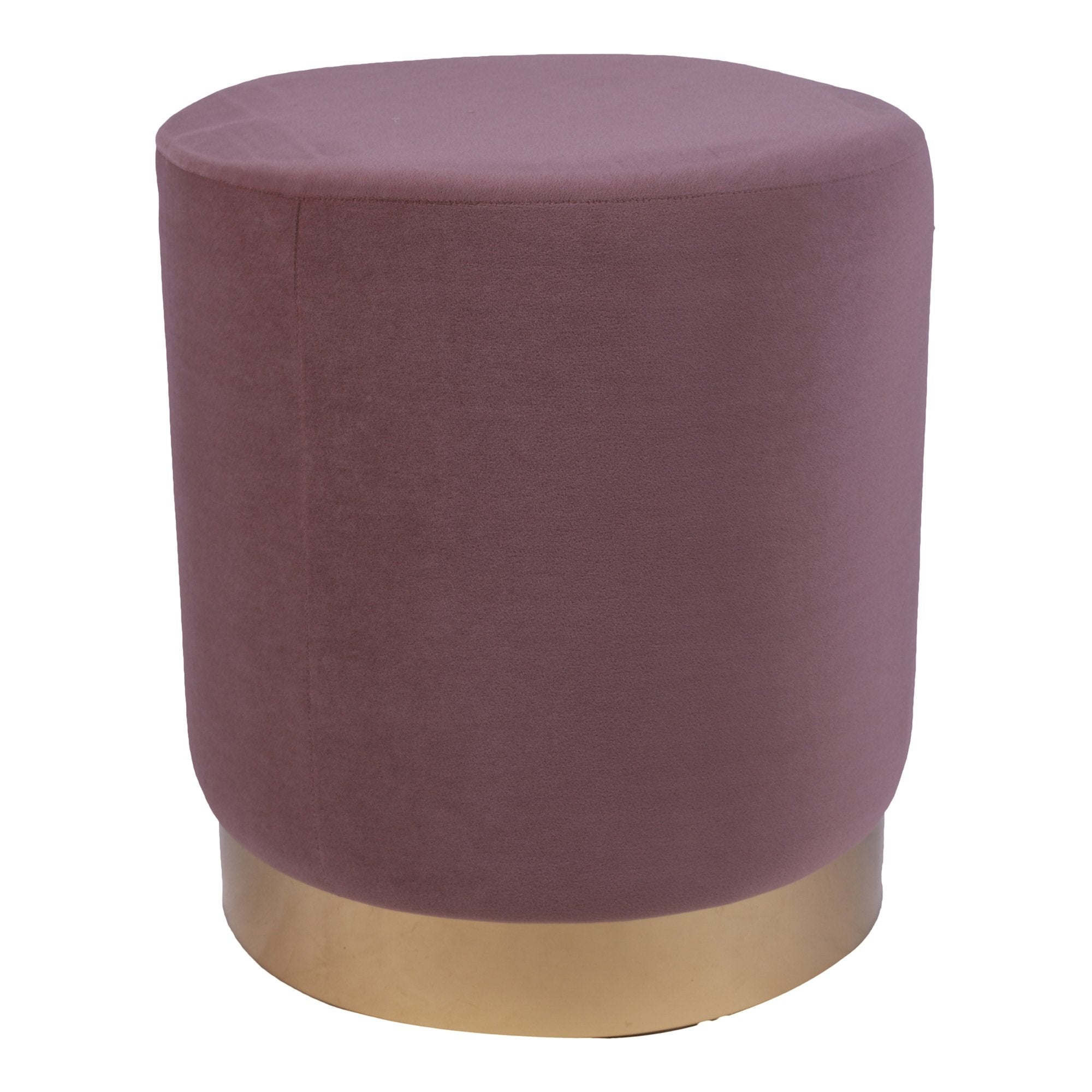 Round Ottoman in Lavender color - Teak Tale