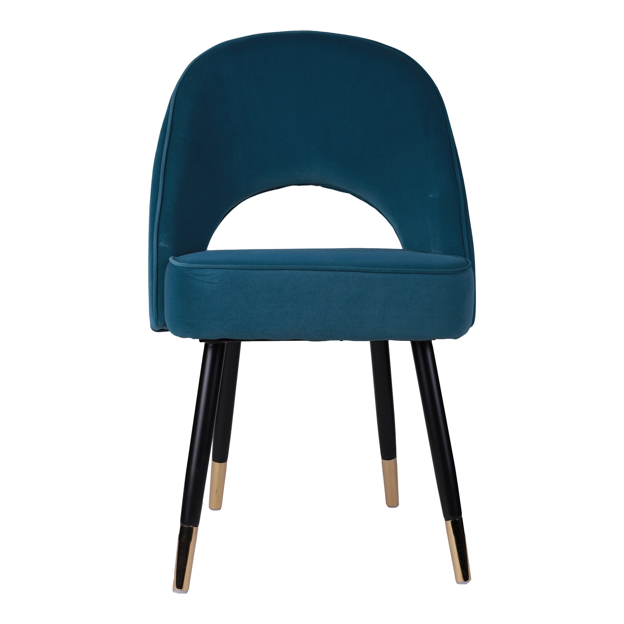 Slipper Chair in Peacock Green Colour from Teaktale Online Store