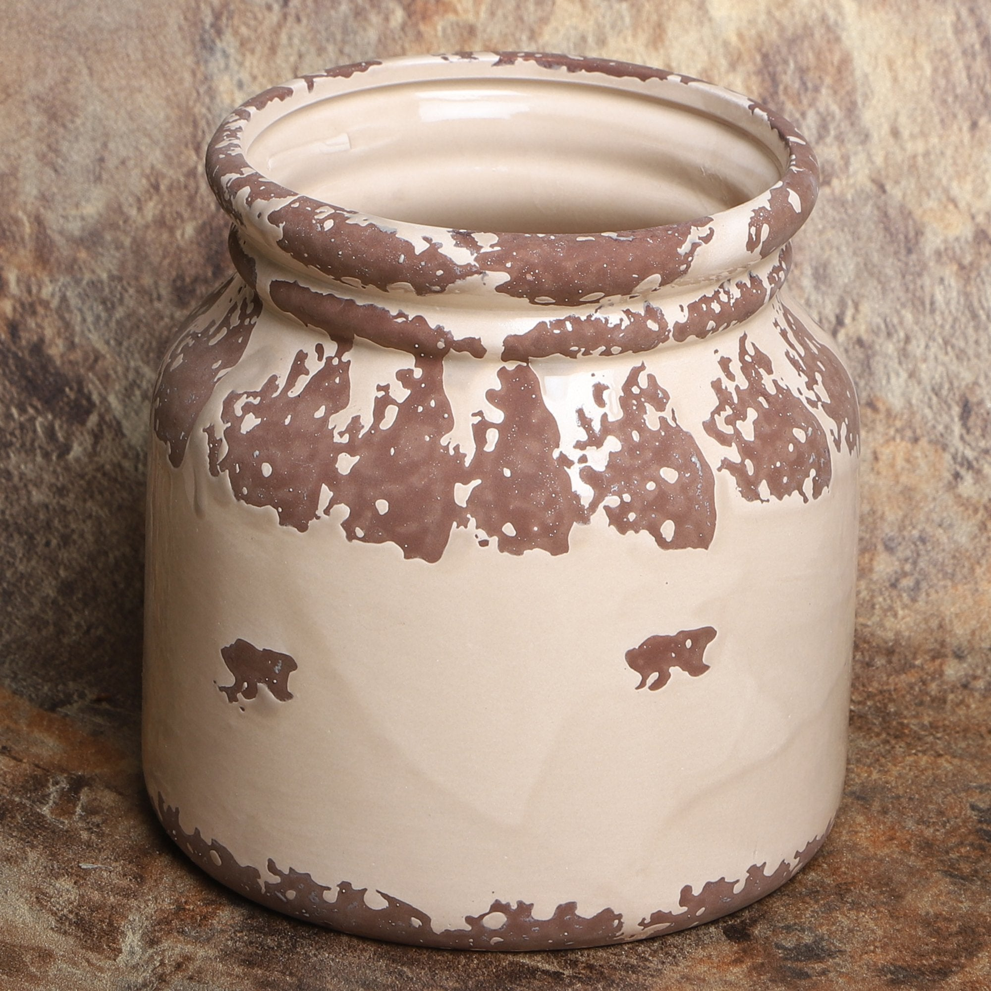 Flower Pot Rustic Grey