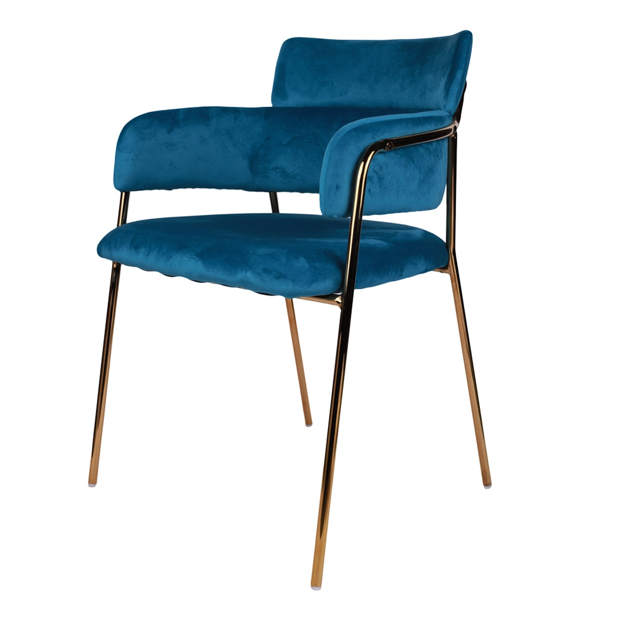 Blue Velvet Touch Lounge Chair from TeakTale Home Decors