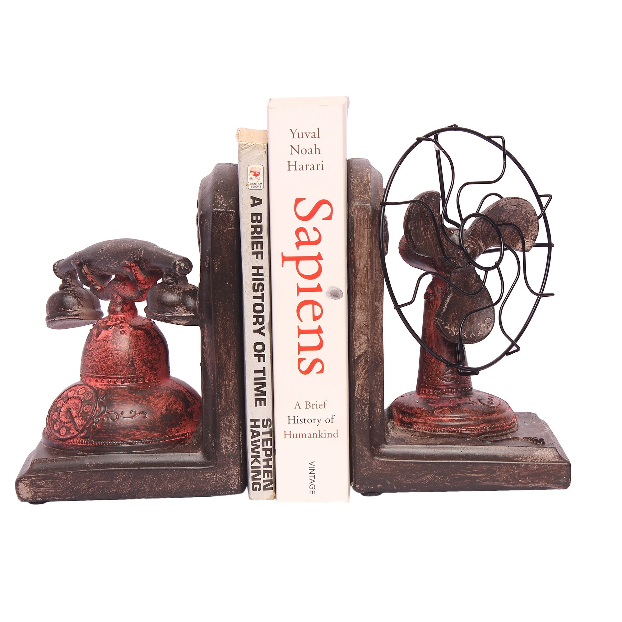 Book Ends Fan And Telephone