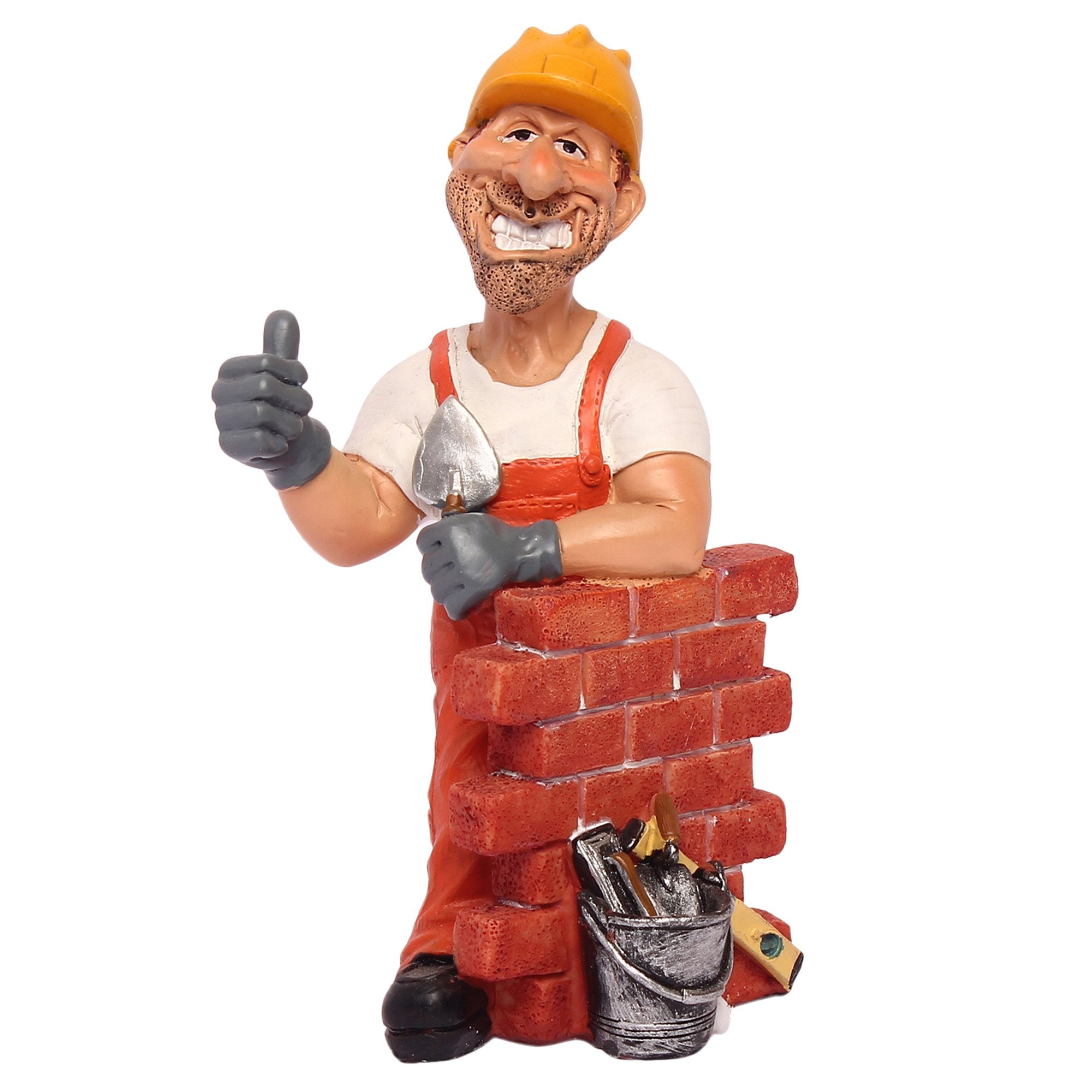 Construction Worker With Wall