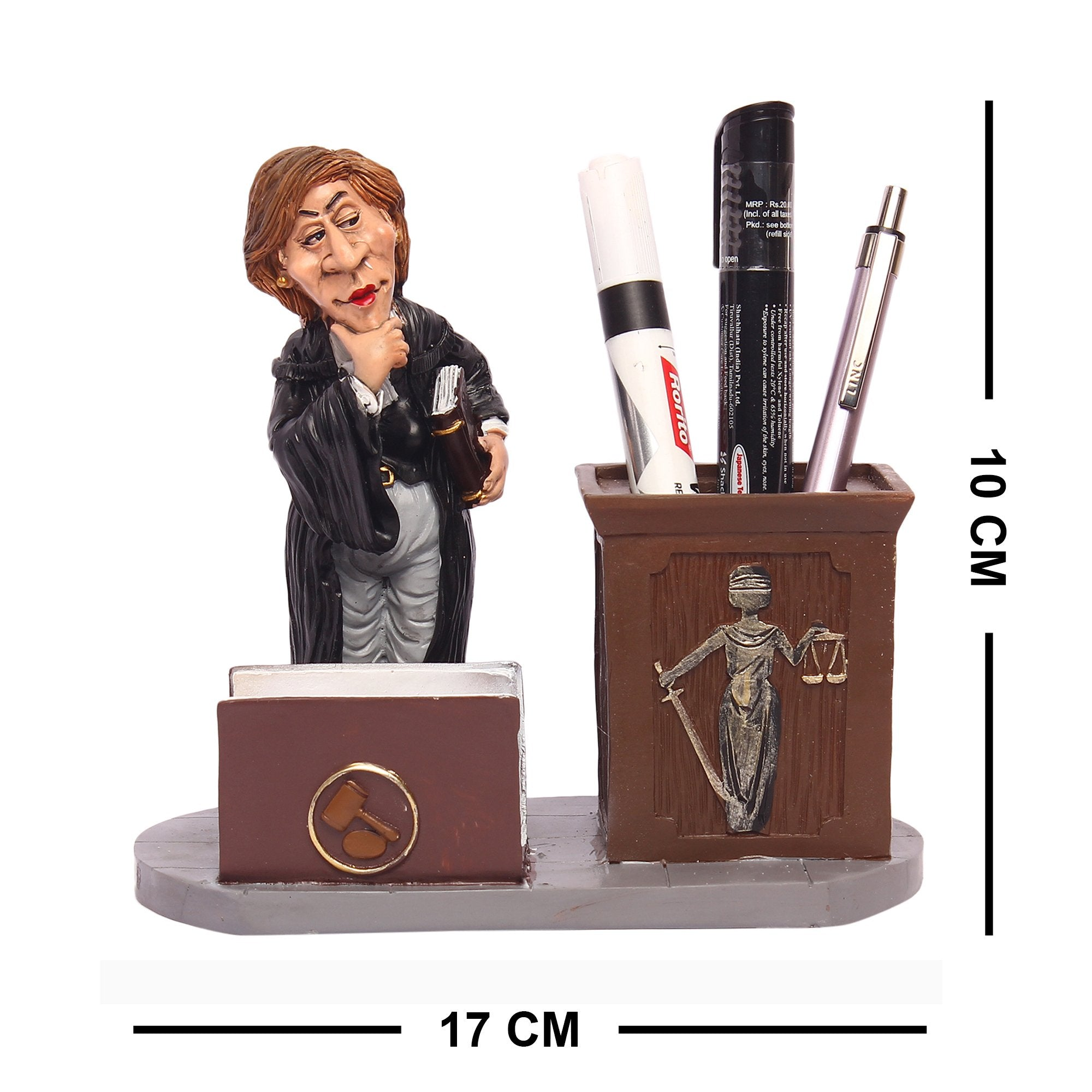 Lady Barrister Pen & Card Stand