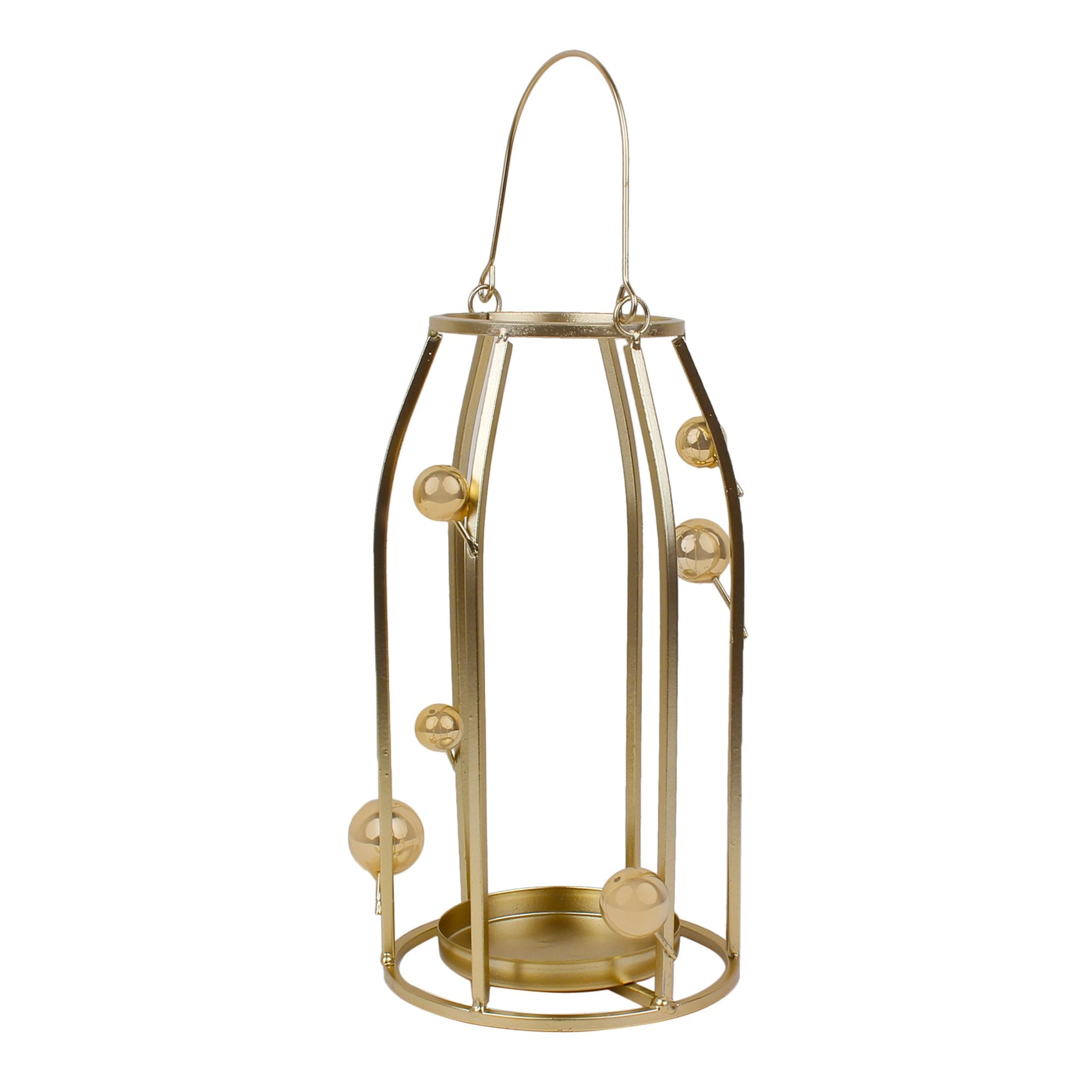 Candle Stand With Golden Balls