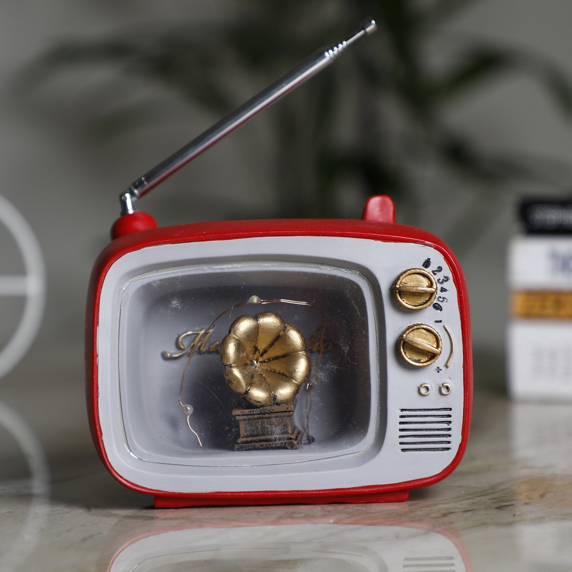 Small Television With Gramophone