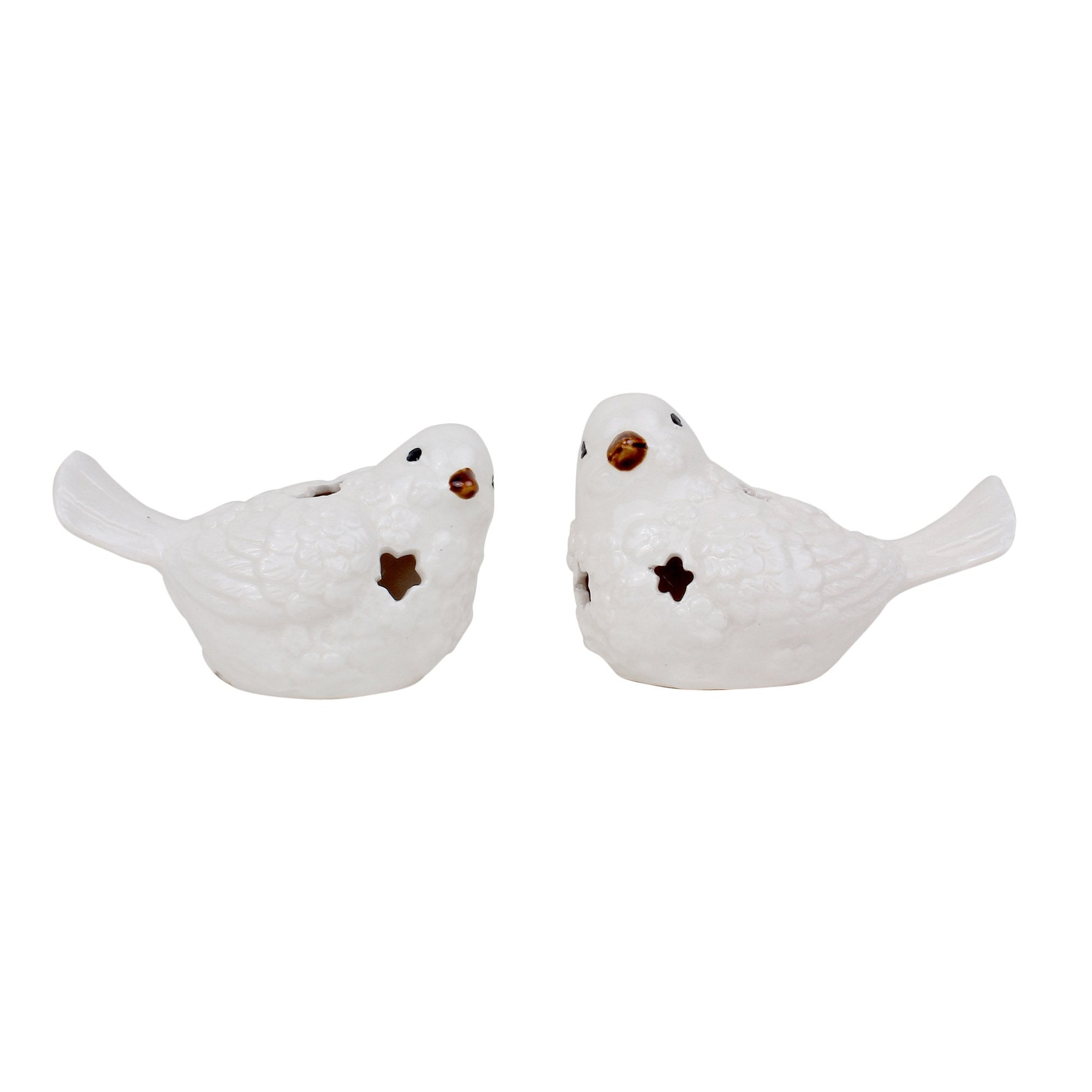 Birdies - Set of 2 (White) - Teak Tale