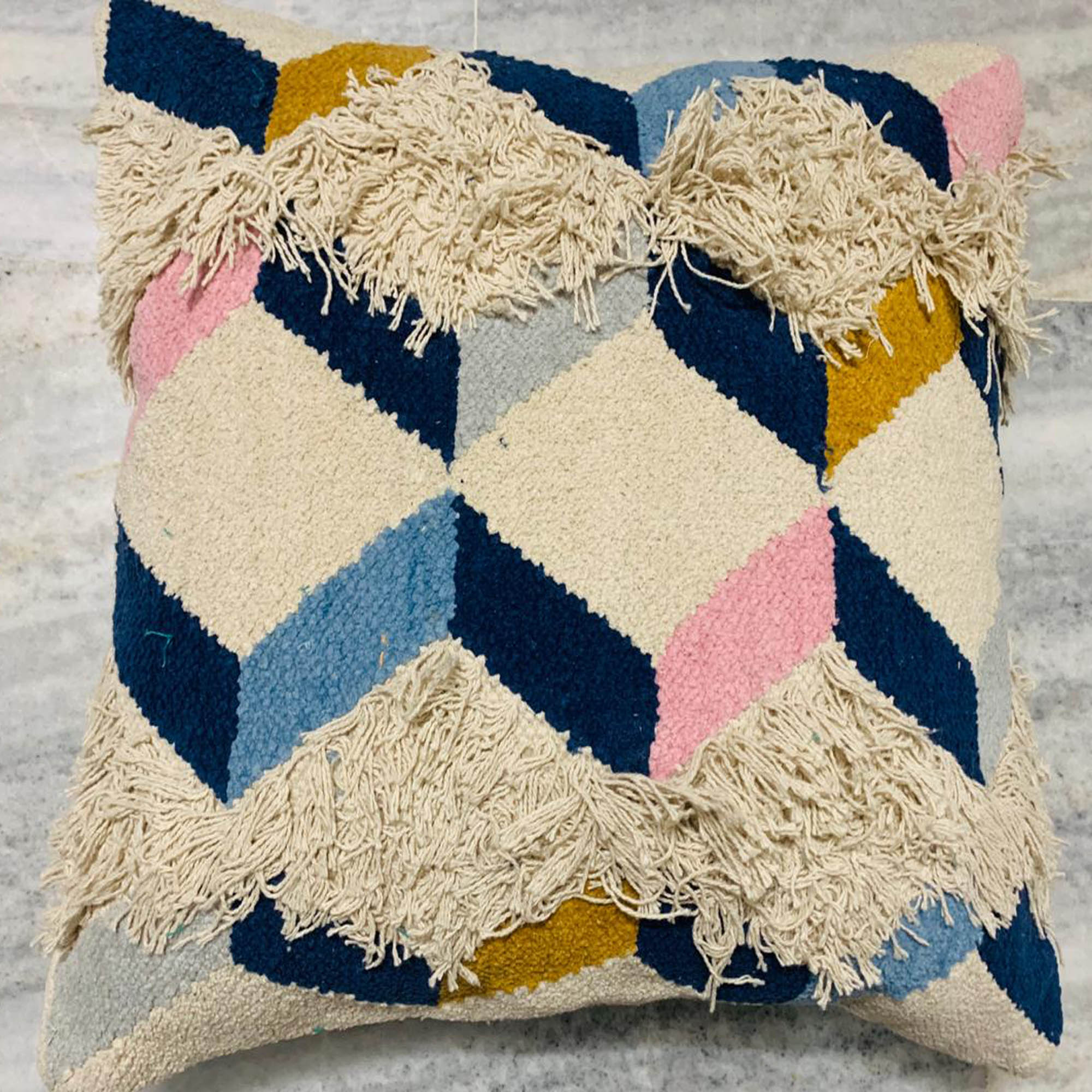 Multi-color Geometrical Pattern Cushion Cover