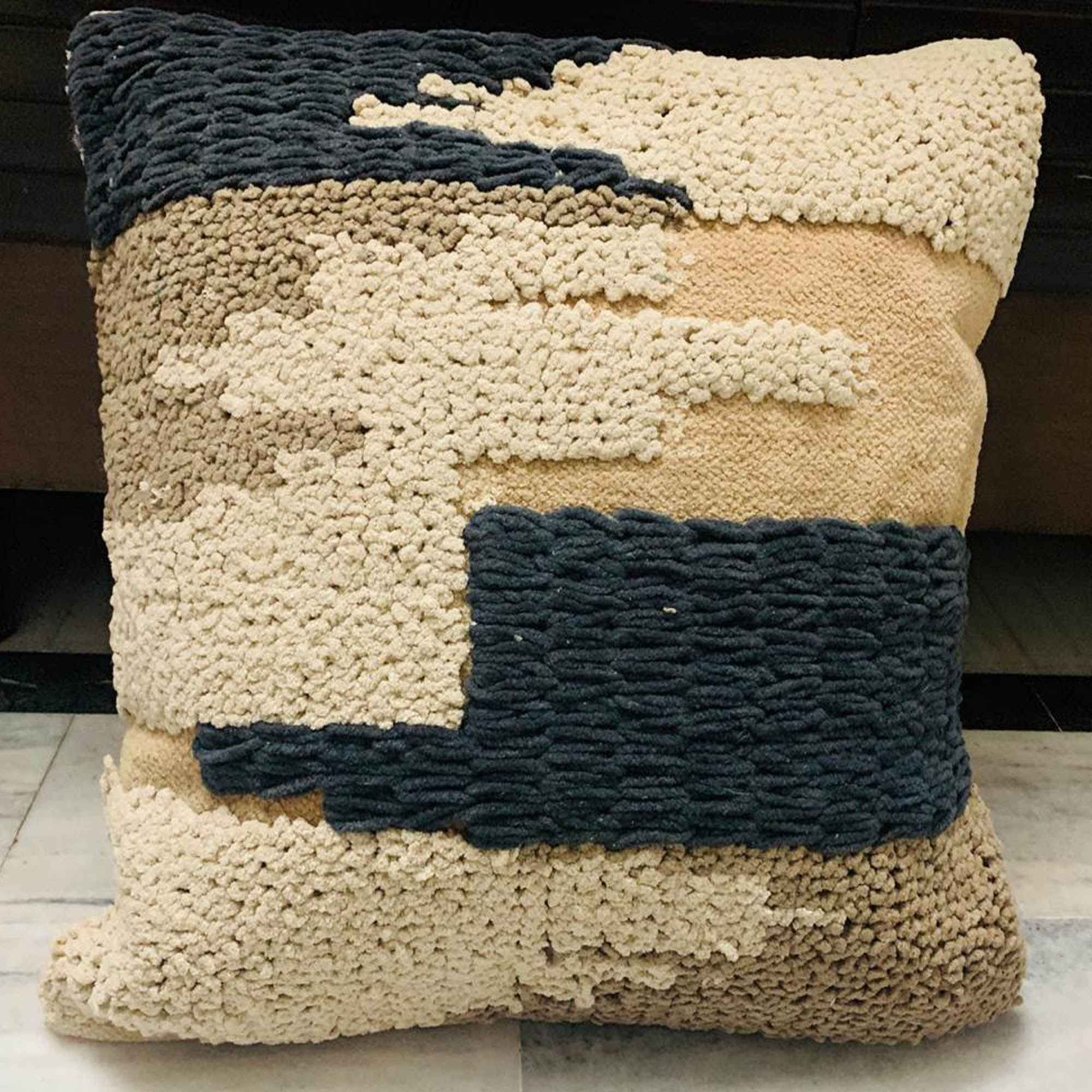 Pastel Colored Hand-woven cushion covers