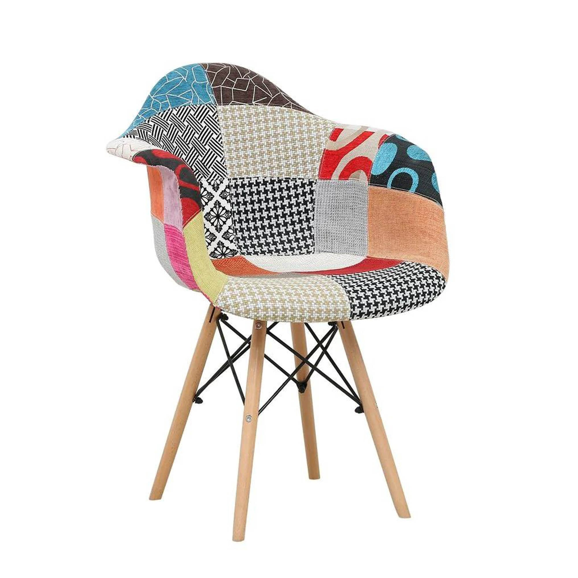 Multi-Colored Patch-work Chair