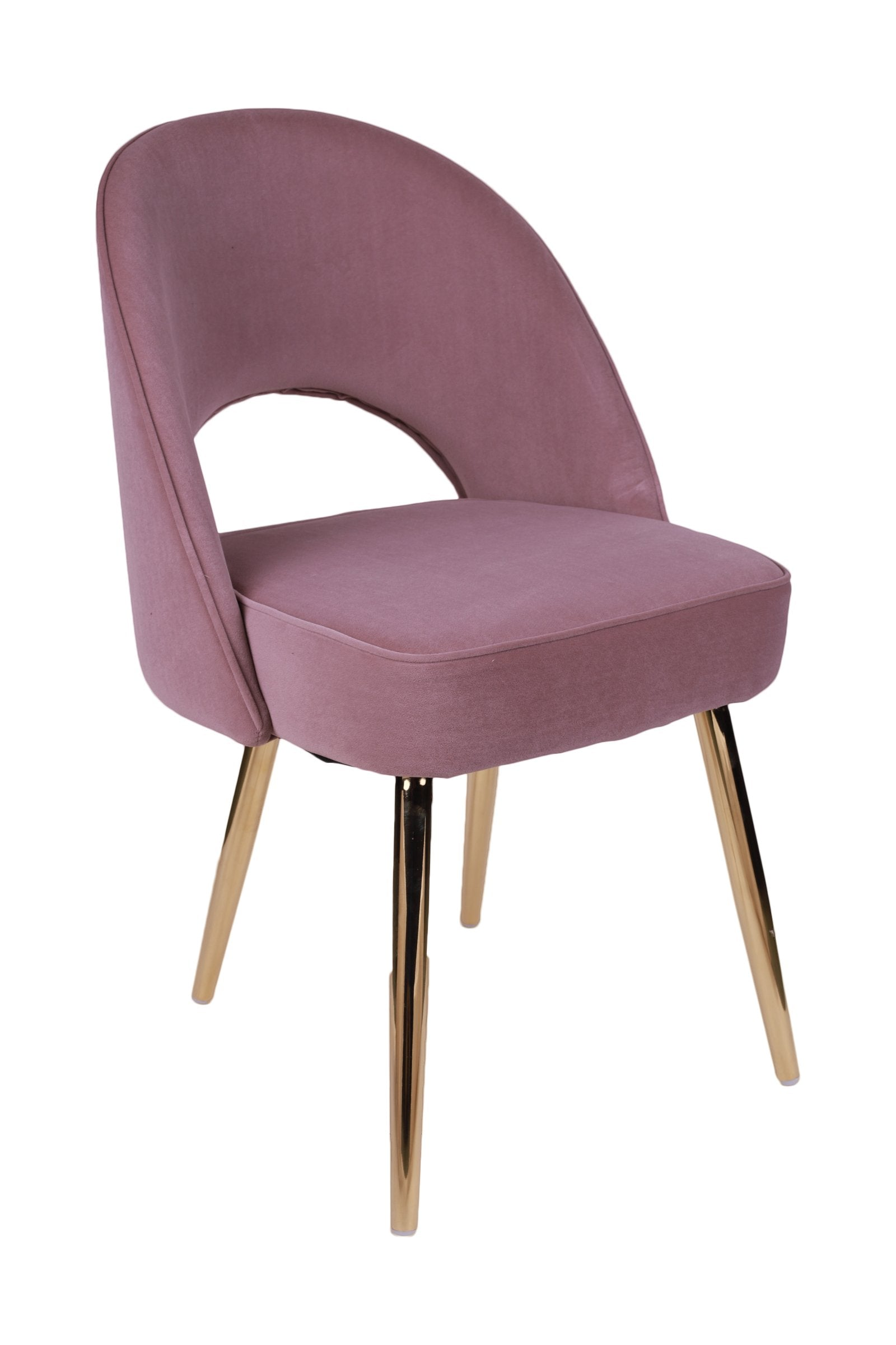 Chromed Gold Chair in Light Purple Color